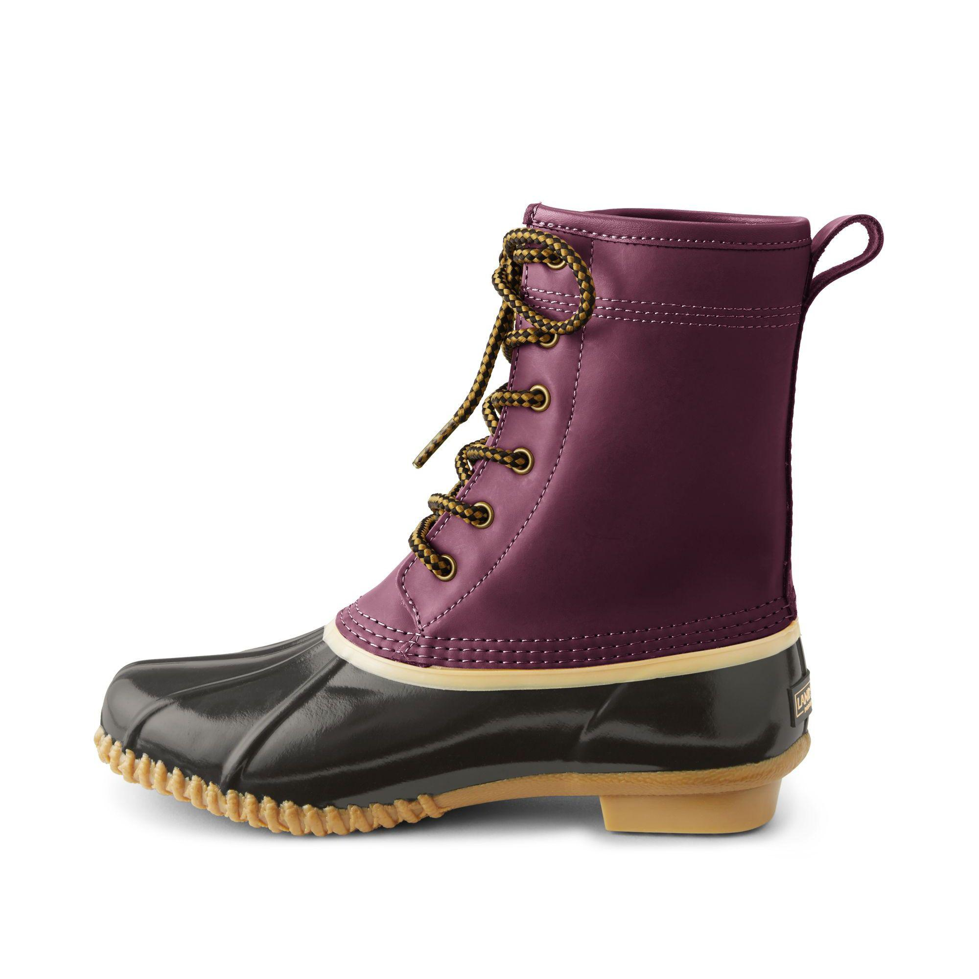 79d1f67cedb48 Lands' End Red Duck Boots in Red - Save 40% - Lyst