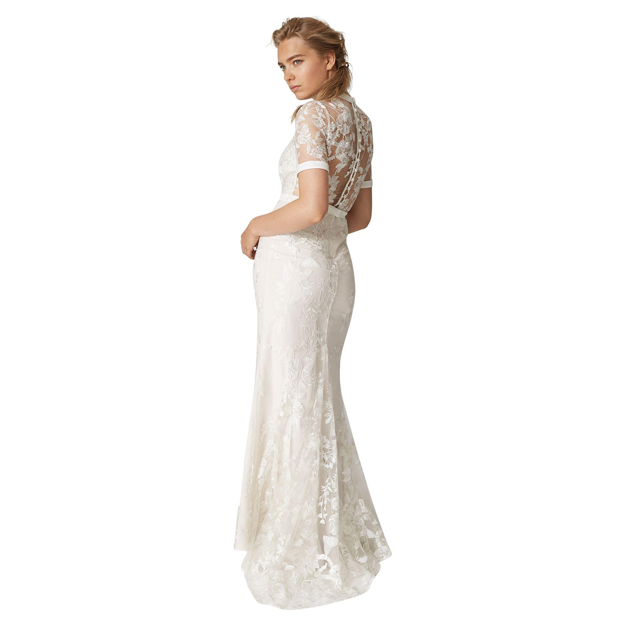 a0efa5e9be9 Phase Eight - Natural Poppy Embroidered Bridal Dress - Lyst. View fullscreen