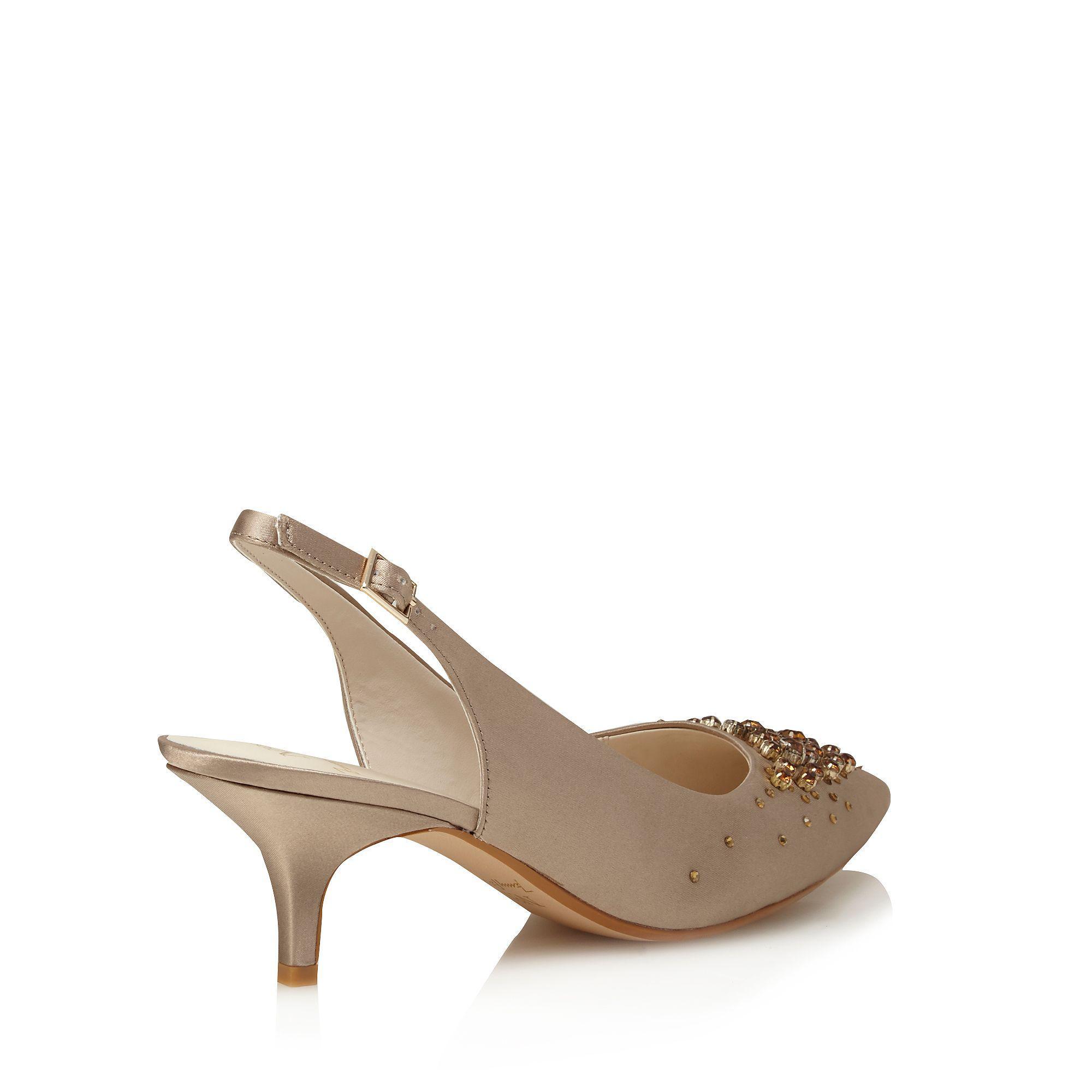 809402fb192 Jenny Packham Blush Satin  pamela  High Stiletto Heel Slingbacks in ...