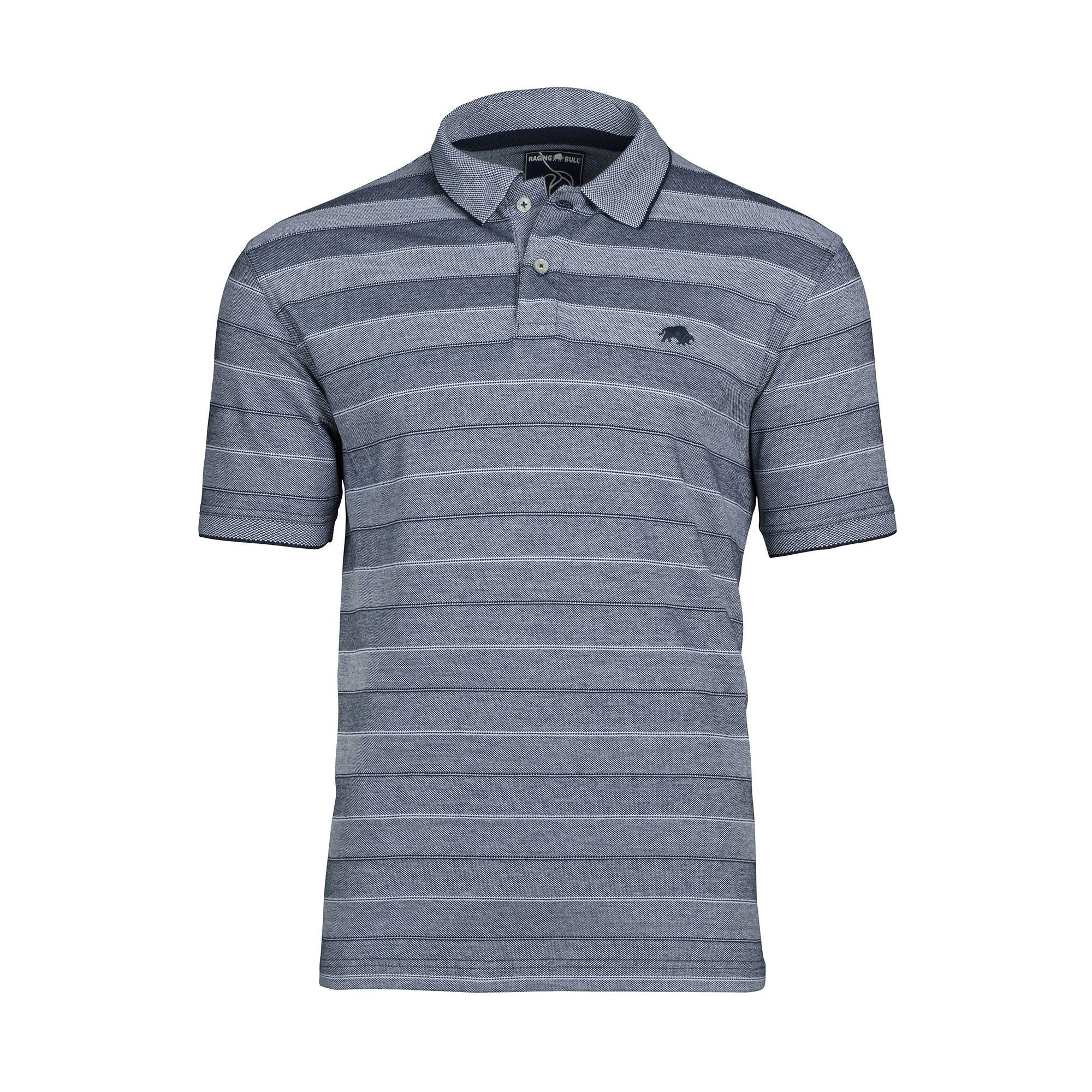 d2608ed3 Raging Bull Navy Birdseye Stripe Polo Shirt in Blue for Men - Lyst