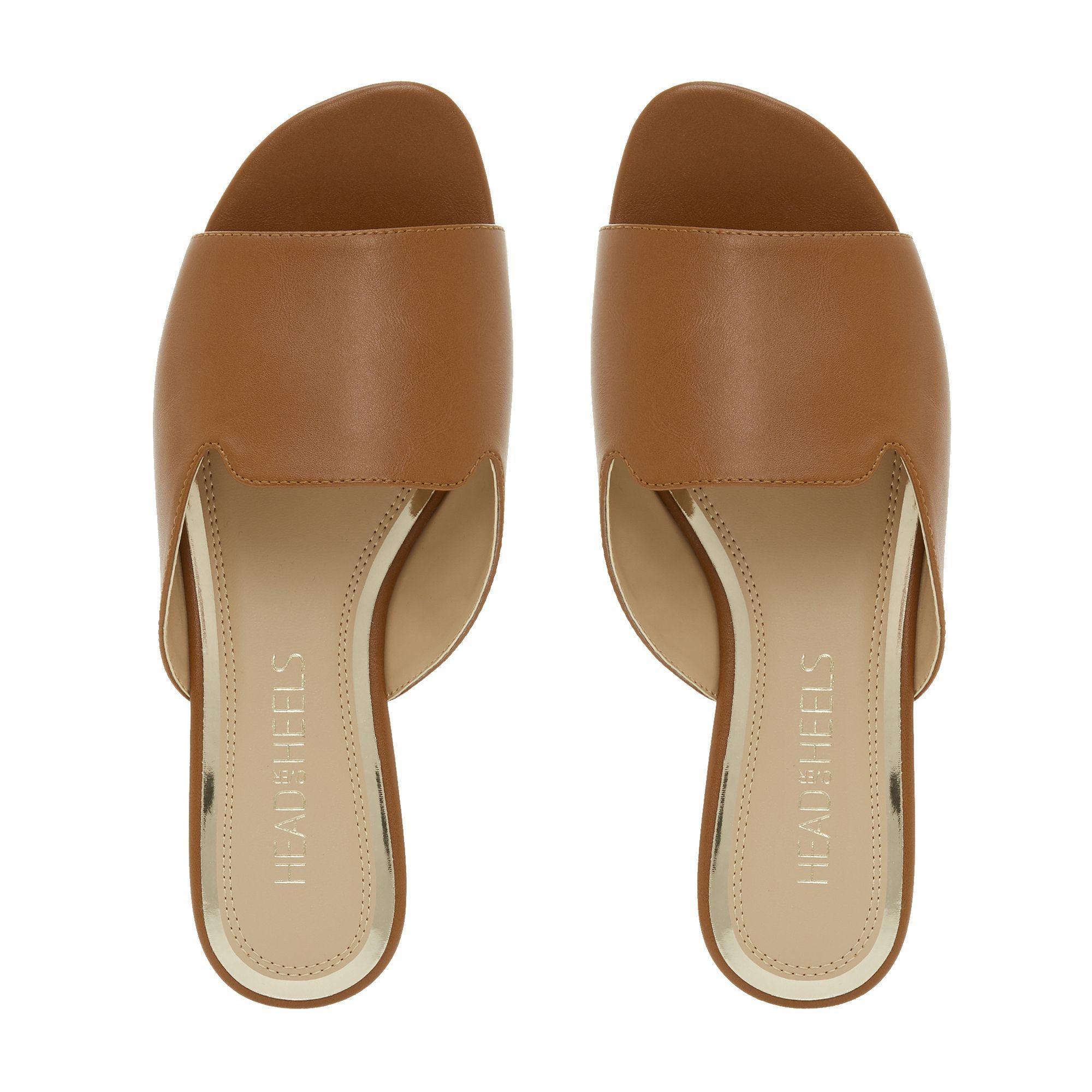 18f044e16 Dune - Brown Tan  lynn  Mule Sandals - Lyst. View fullscreen