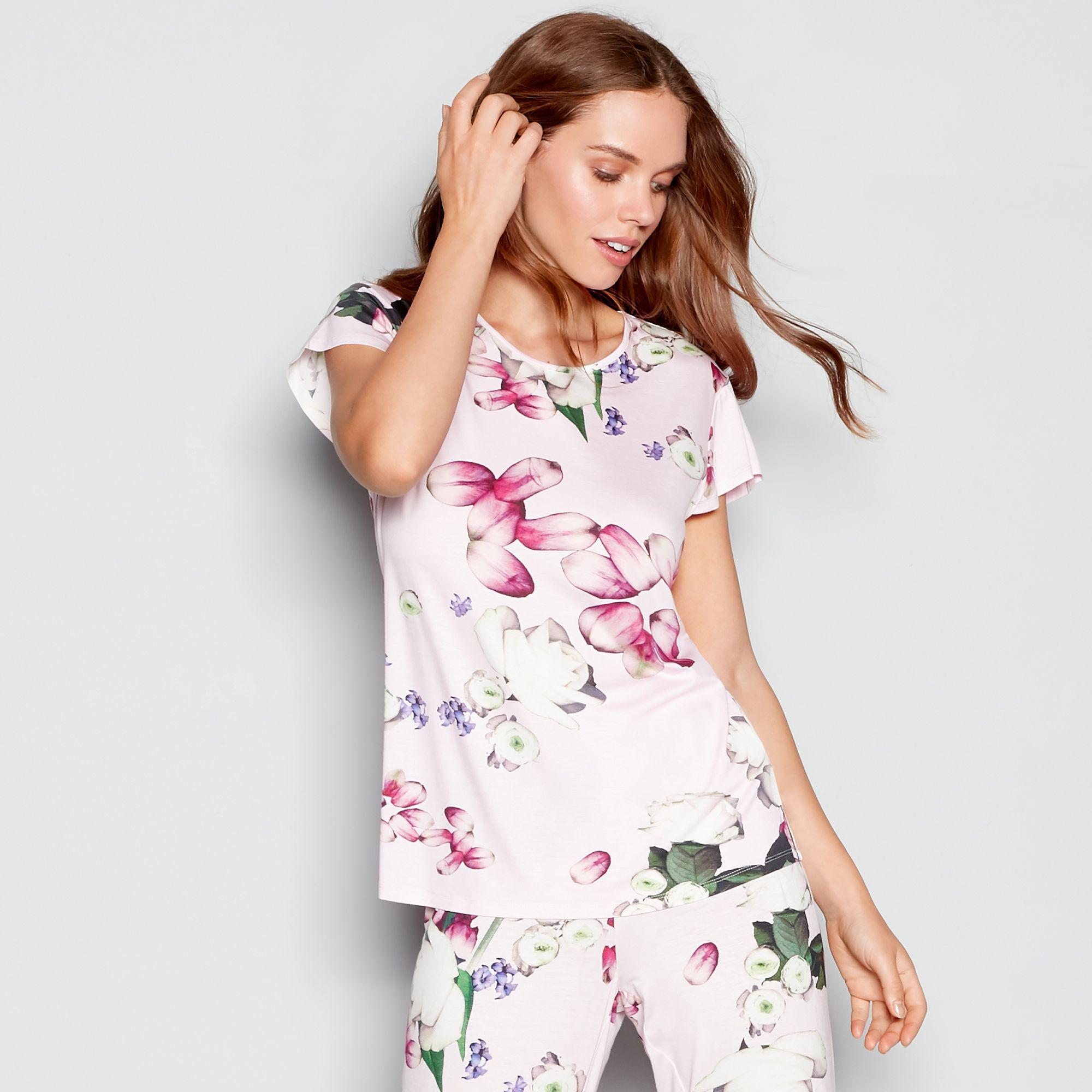 b53781246decdf Ted Baker Light Pink Floral Print  kensington  Short Sleeve Pyjama ...