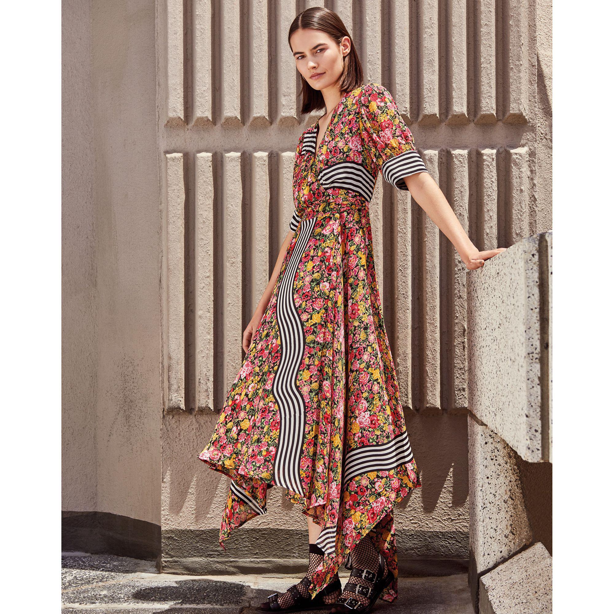a5328e501908 Preen By Thornton Bregazzi Multi-coloured Floral Striped Short ...