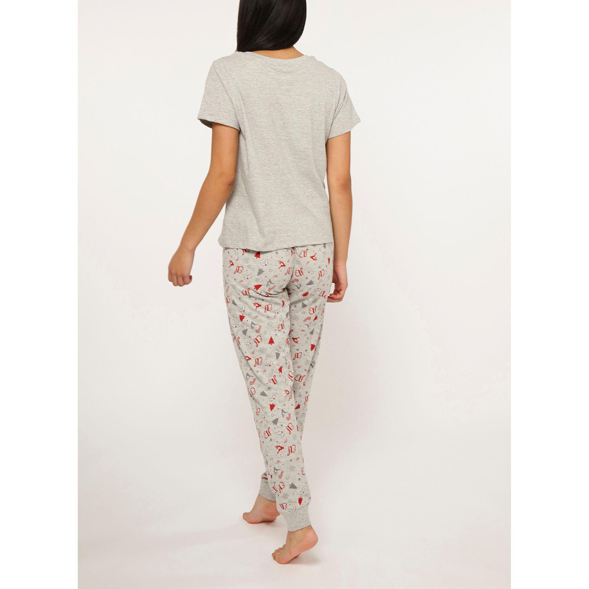 807d6d358b Dorothy Perkins - Gray Petite Grey Elf Pyjama Set - Lyst. View fullscreen