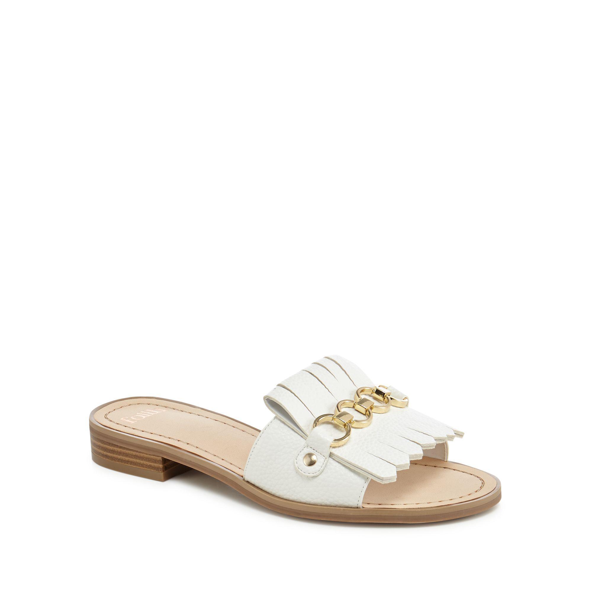 cheap sale online wide range of for sale White 'Jingle' slip-on sandals cheap footlocker buy cheap best seller 40uAzMg5