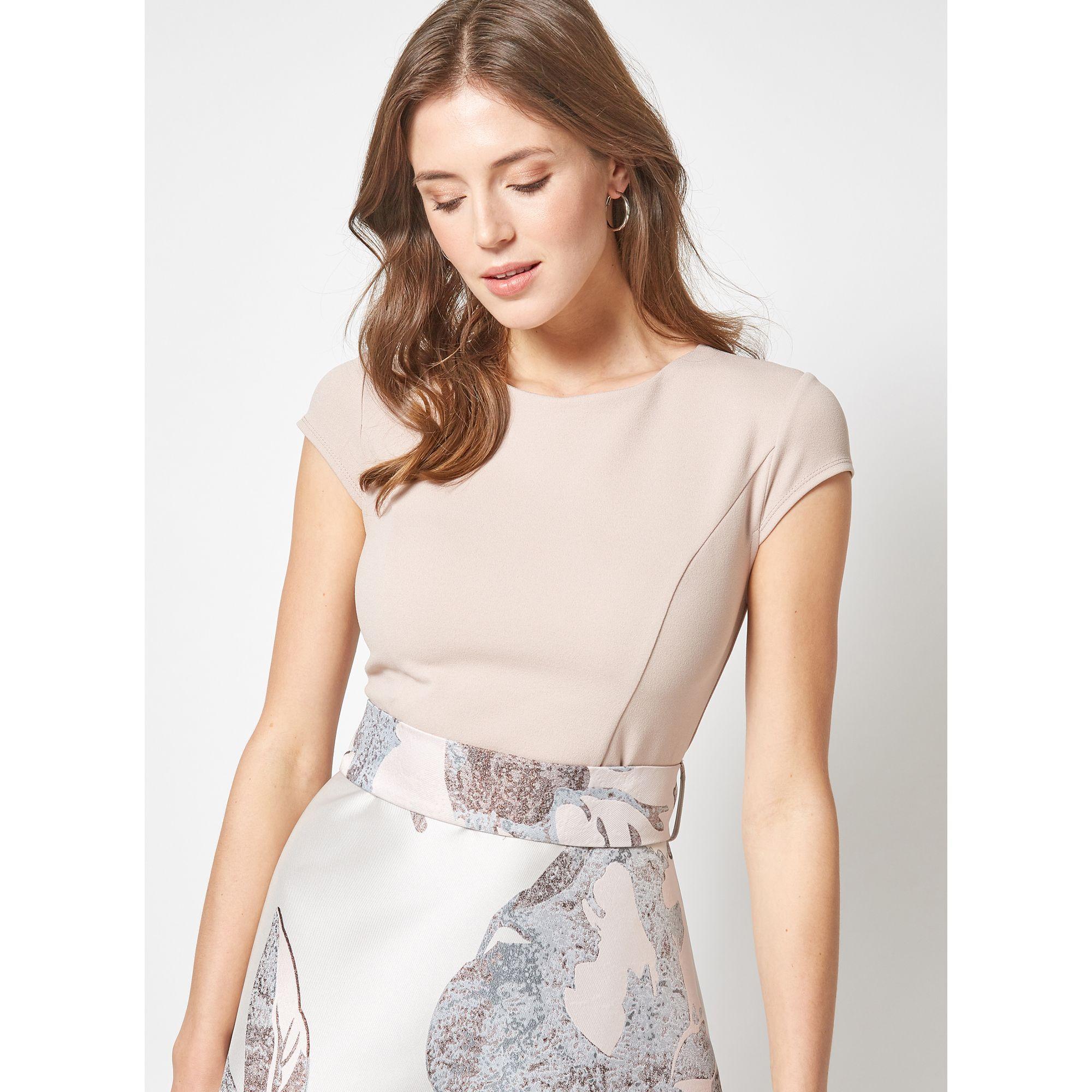 784ca1b3548167 Dorothy Perkins Luxe Silver Jacquard Midi Prom Dress in Metallic ...