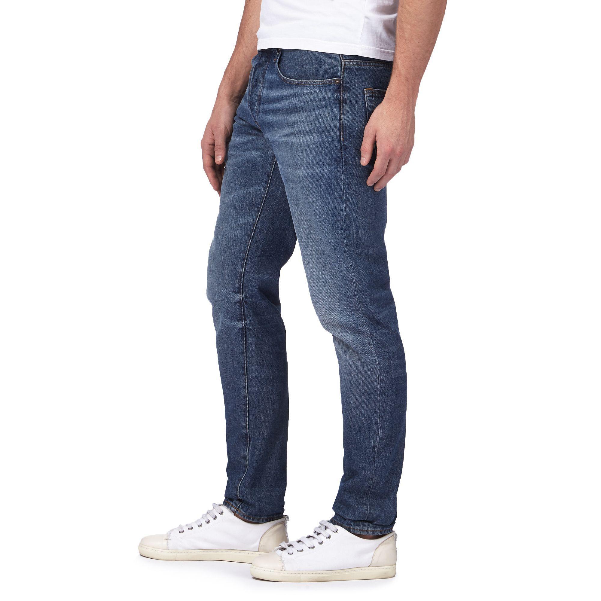 Blue Wash G For Slim Mid In Lyst Men Star Fit Raw Jeans qIq6EU