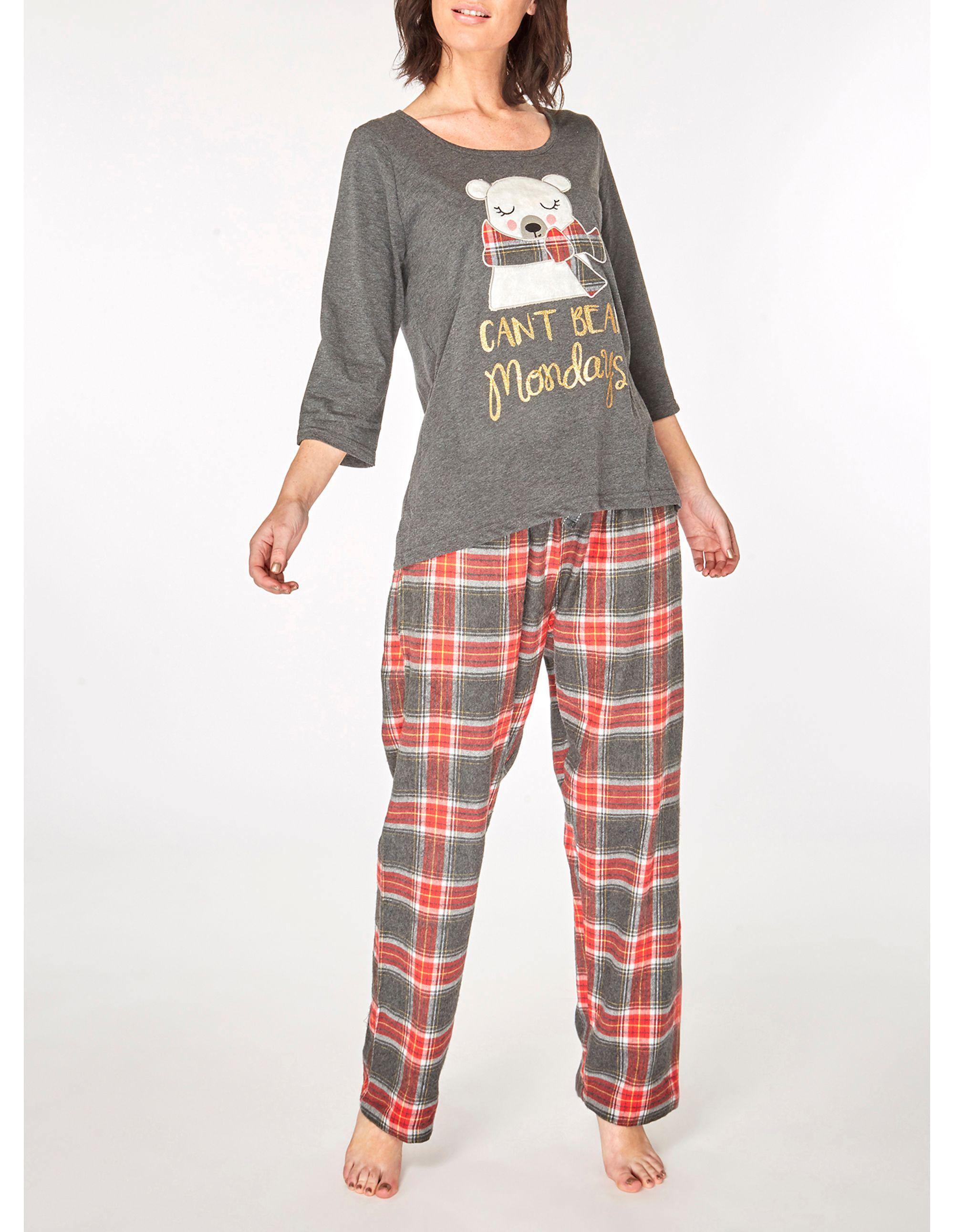 77e1d9f8b7 Dorothy Perkins. Women s Gray Grey Can t Bear Monday s Pyjama Set. £20 £16 From  Debenhams