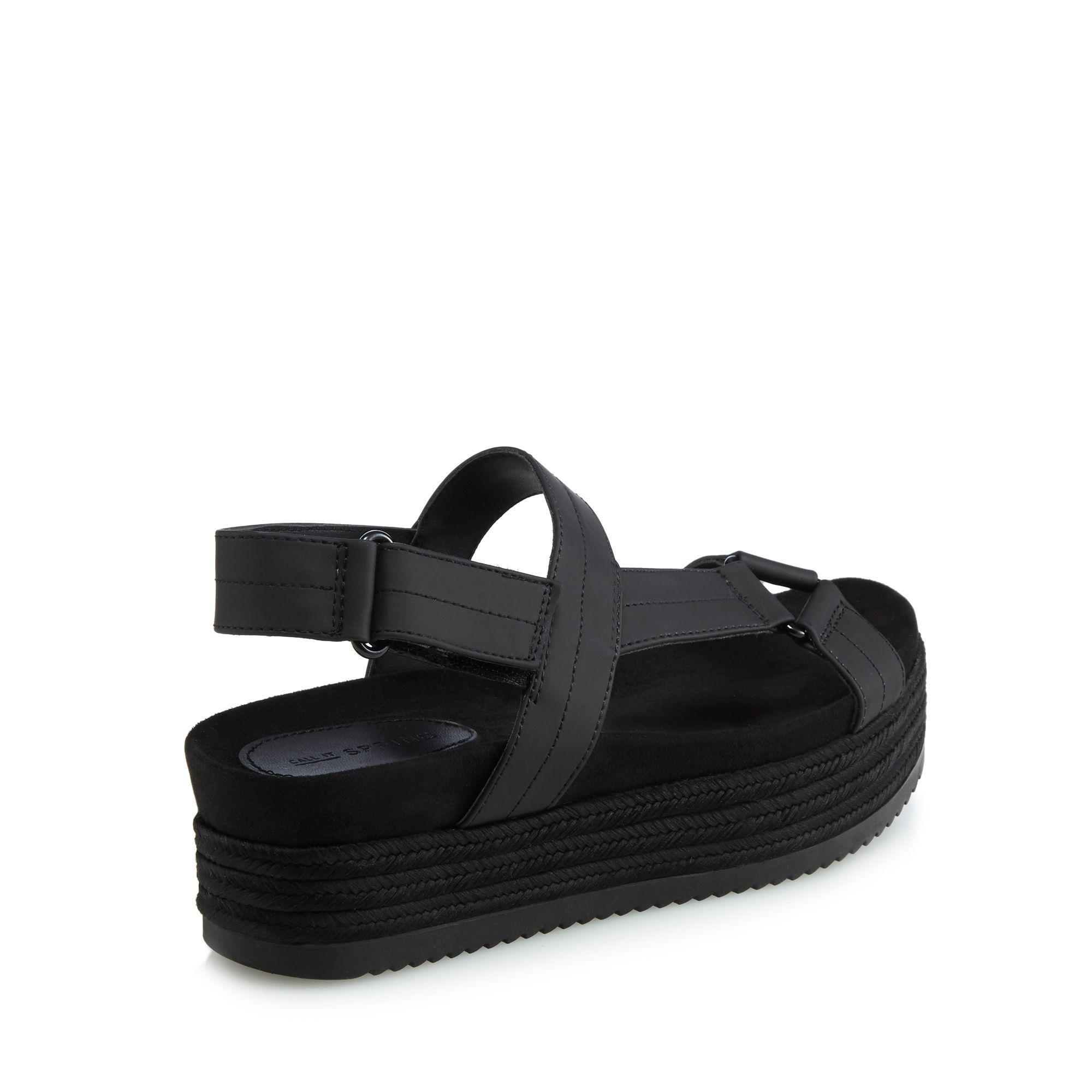 44e5a436528 Call It Spring Black  piresien  Mid Platform Heel Ankle Strap ...