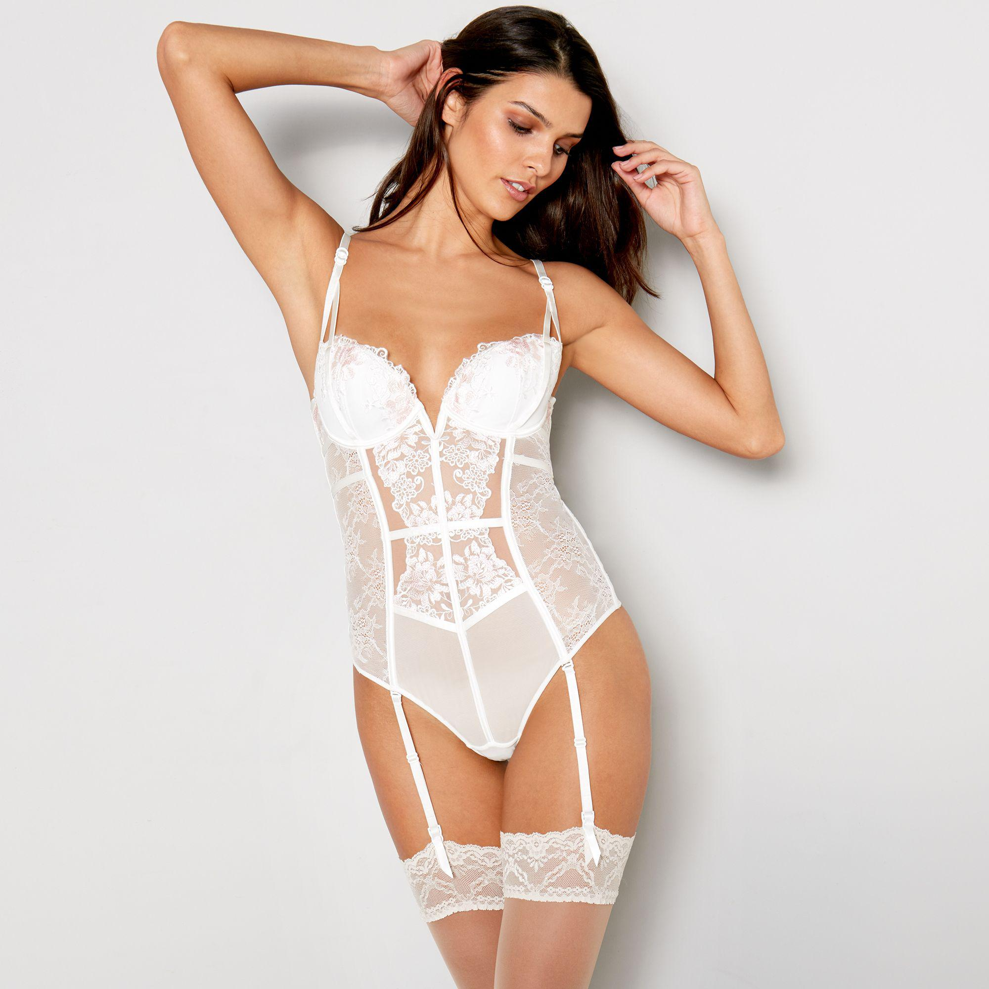 80e628f496195 Ann Summers Ivory Embroidered  paige  Body in White - Lyst