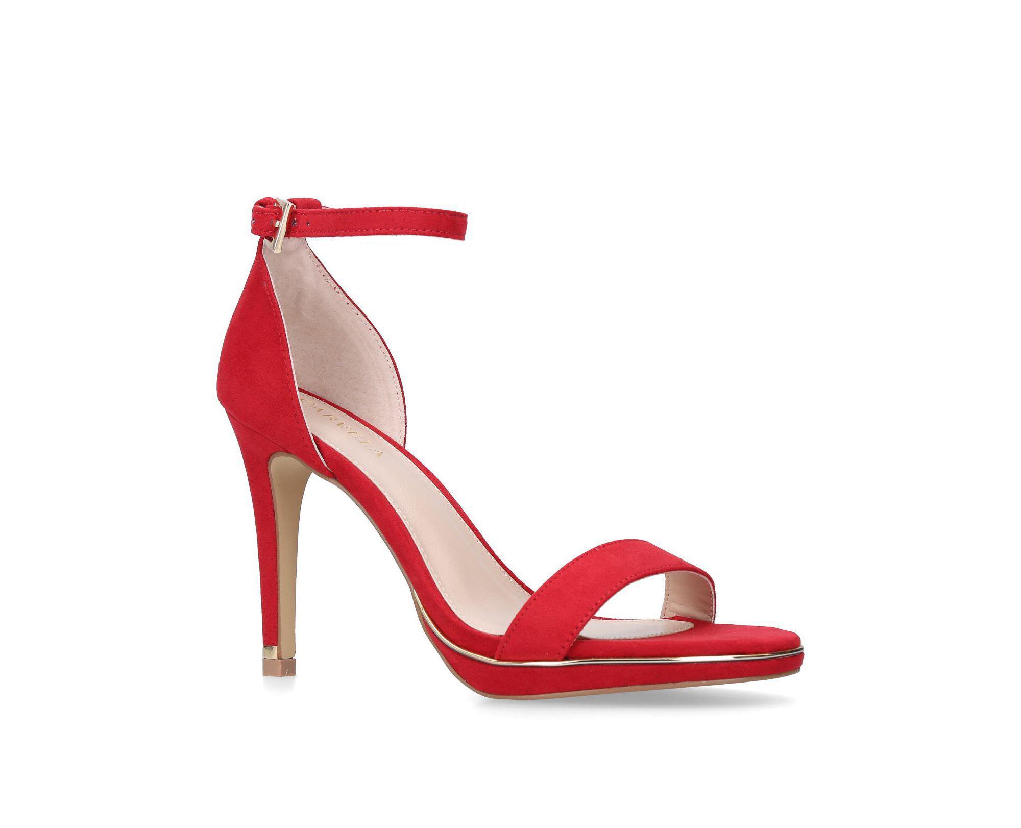 79b62f17280b Carvela Kurt Geiger Red 'leo' Stiletto Heeled Strappy Sandals in Red ...