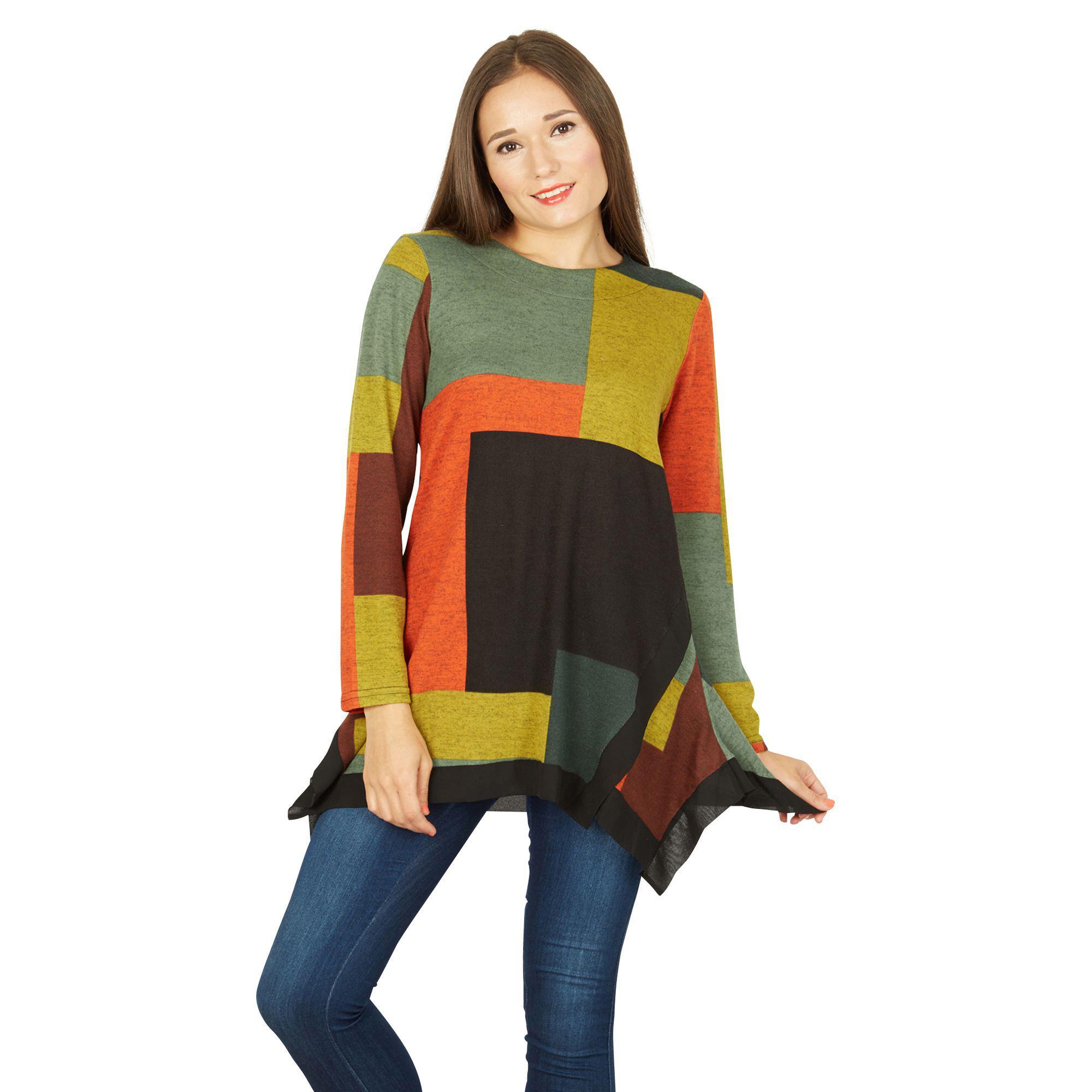 68dded350176 Tenki Multicoloured Full Sleeve Block Print Top - Lyst