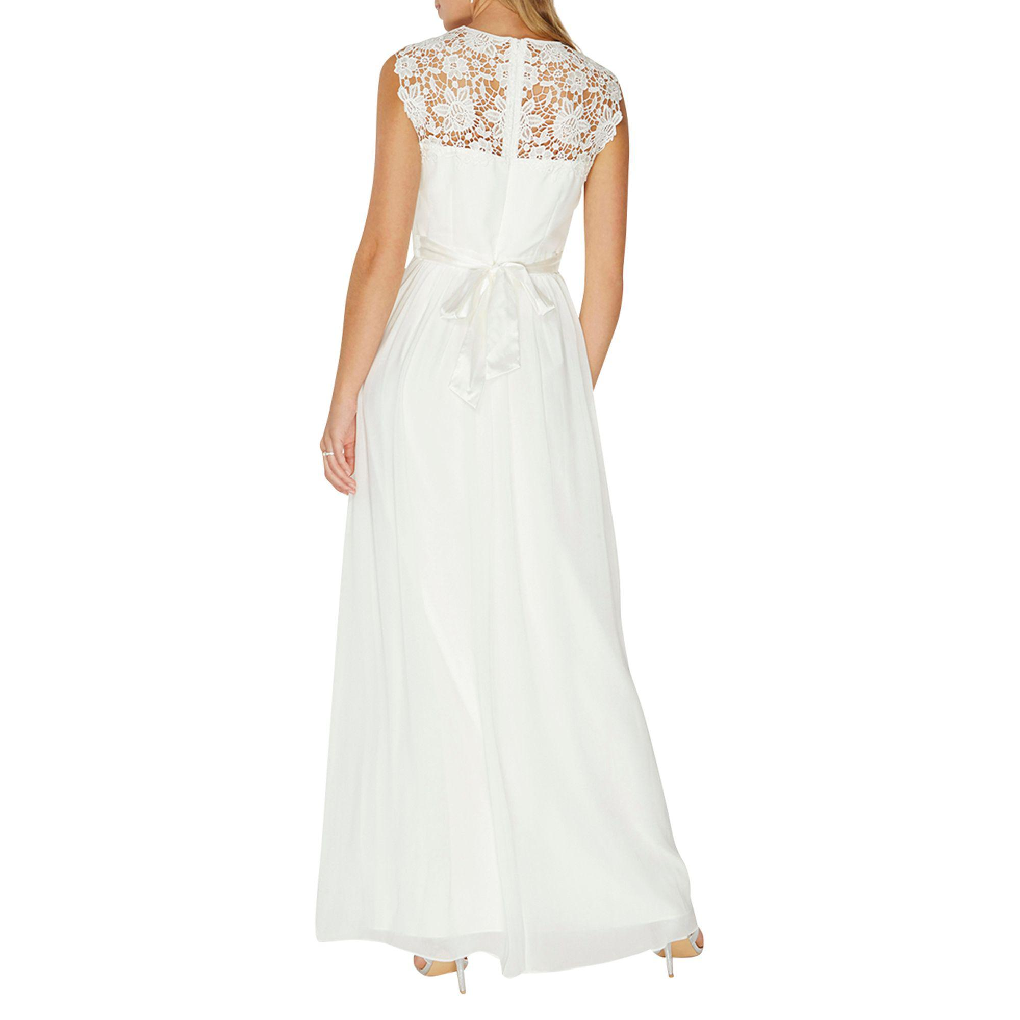 3bbab3eaa01 Dorothy Perkins Bridal  kathryn  Maxi Dress in White - Lyst
