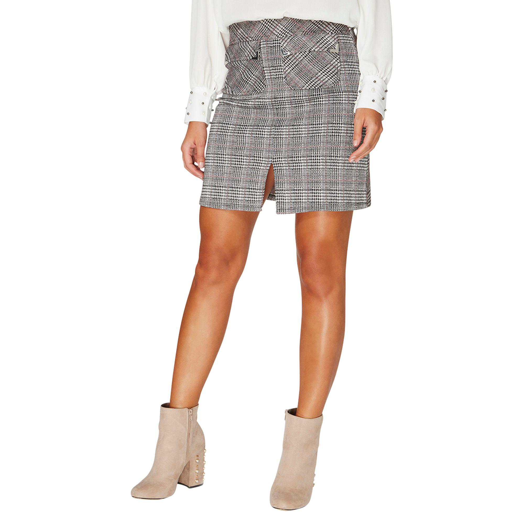 Dorothy Perkins Womens Multi Coloured Check Jacquard Mini Skirt- Cut-Price aFBK0vF