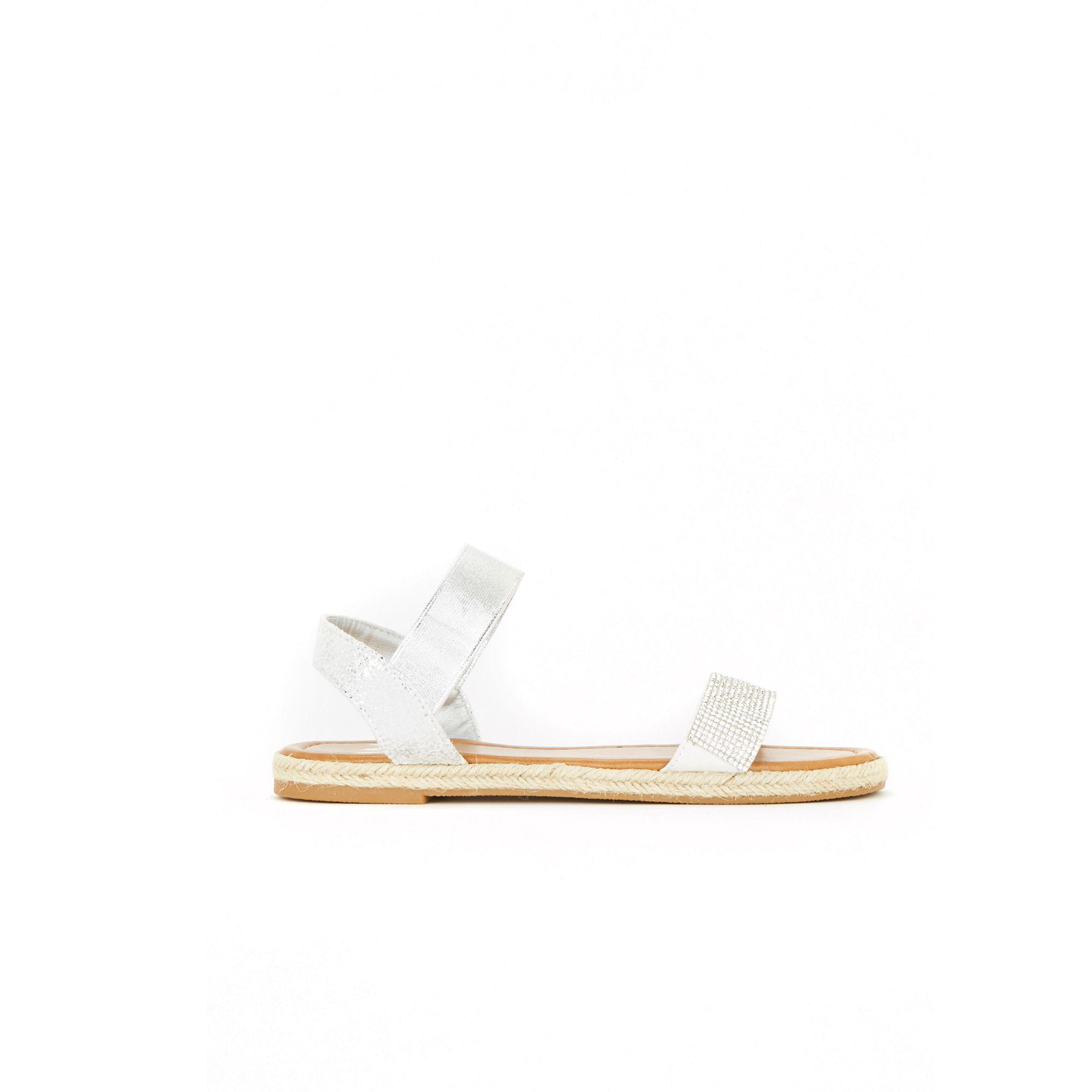 outlet marketable White diamante espadrille sandals cheap outlet store free shipping best cheap visit fashionable for sale TriDtl