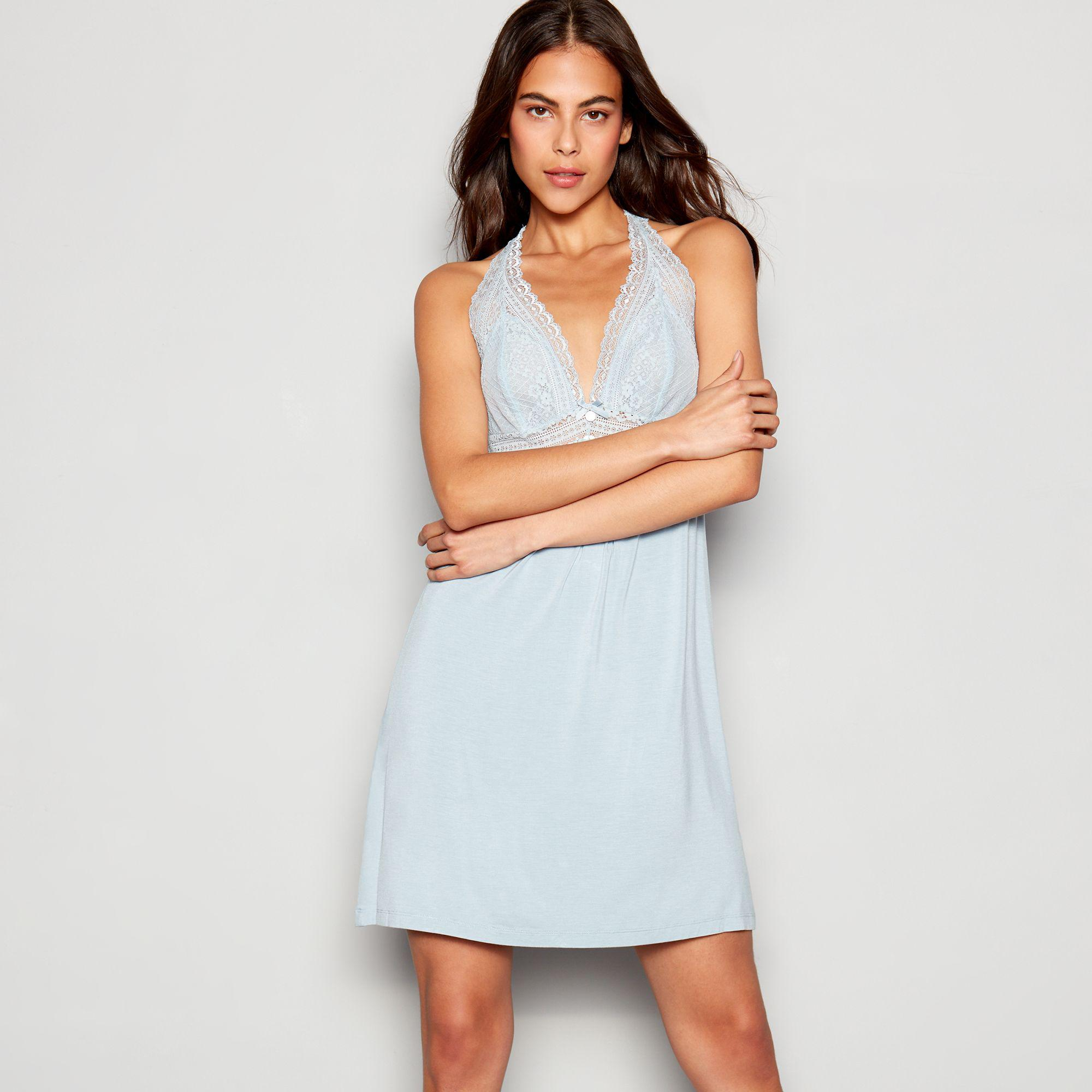 ee5edabad31 J By Jasper Conran Light Blue Lace  archive  Chemise in Blue - Lyst