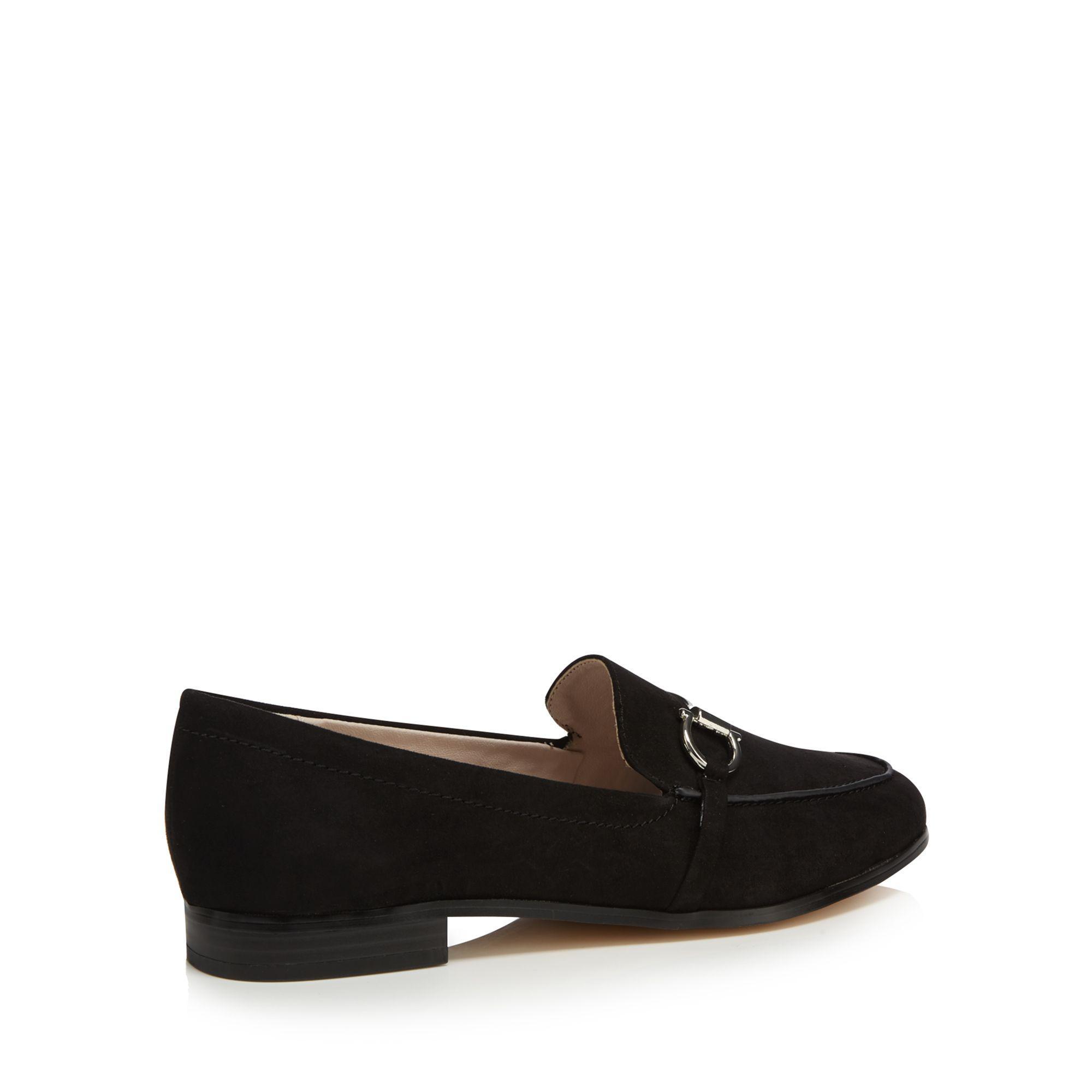 c79c7c98c16 Faith Black Suedette  agnes  Wide Fit Loafers in Black - Lyst