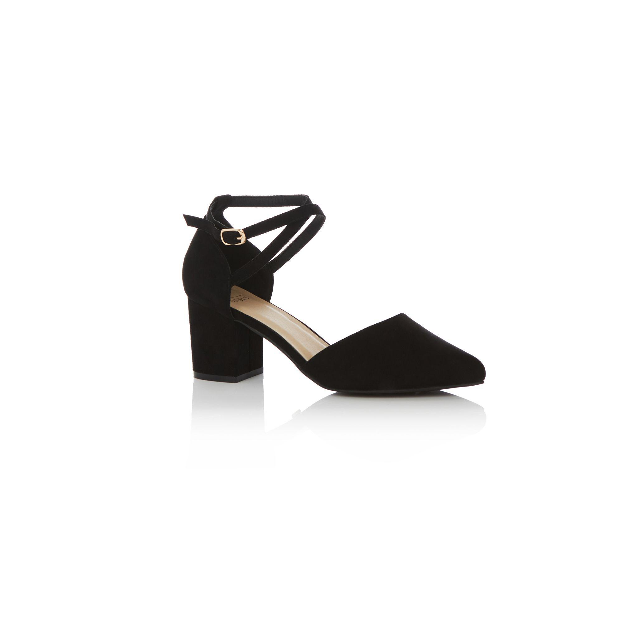 4b38751eef69 Oasis Black 'ruth' Block Heels Shoes in Black - Lyst