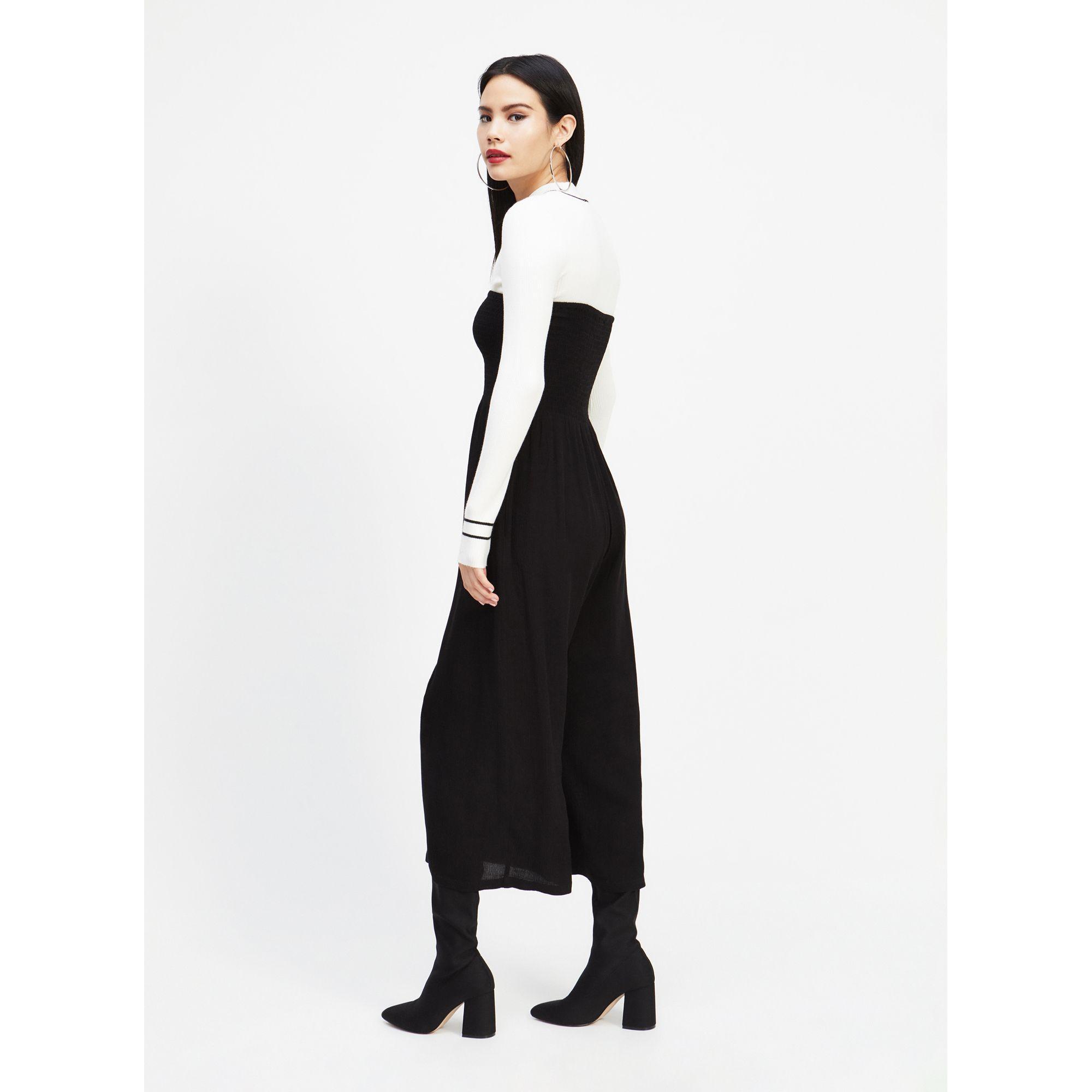 4d4d3197b1a Miss Selfridge - Black Shirred Bandeau Jumpsuit - Lyst. View fullscreen