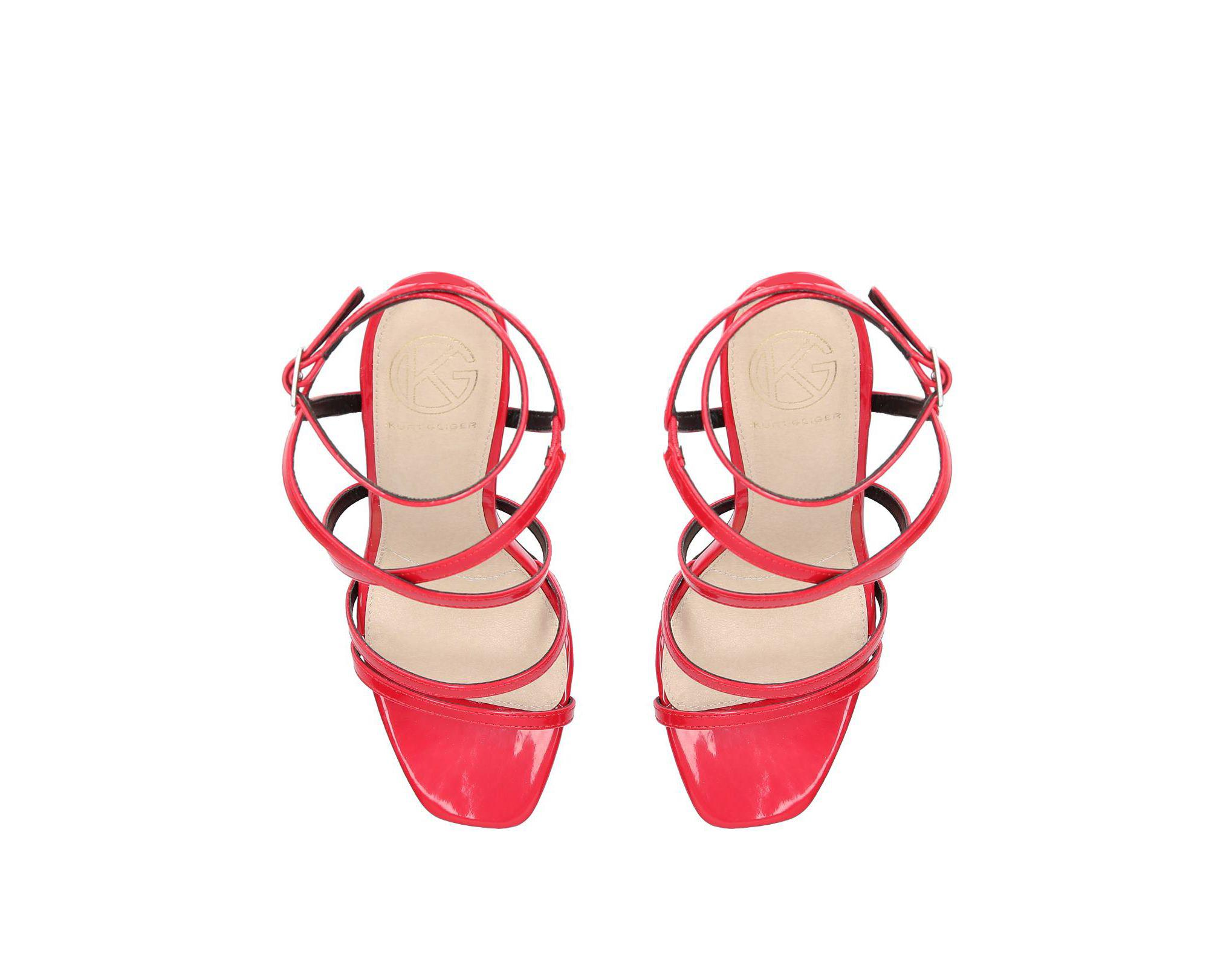 2fd7d0bfb5abe8 KG by Kurt Geiger Alexis Strappy Sandals in Red - Save 30% - Lyst