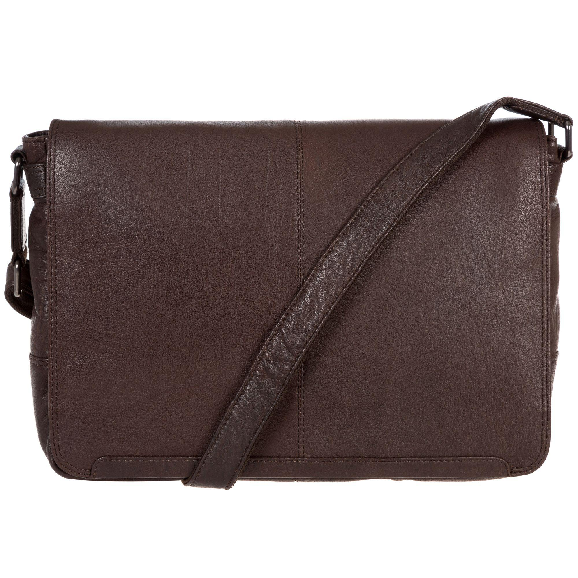 e9cbddc0b8f0 Conkca London Dark Brown  bermondsey  Handcrafted Leather Messenger ...