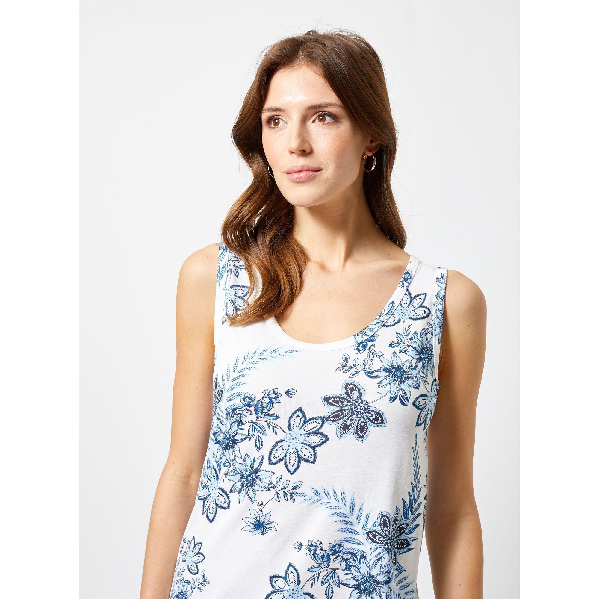 843d4a1266dd2 Dorothy Perkins - White Ivory Floral Print Viscose Vest - Lyst. View  fullscreen