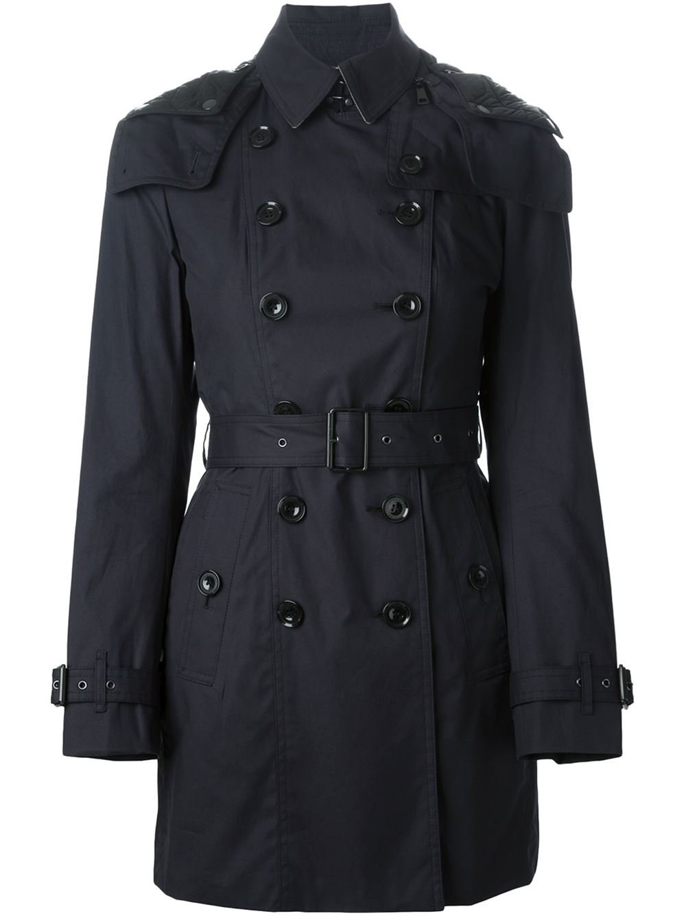 burberry brit classic trench coat in blue lyst. Black Bedroom Furniture Sets. Home Design Ideas
