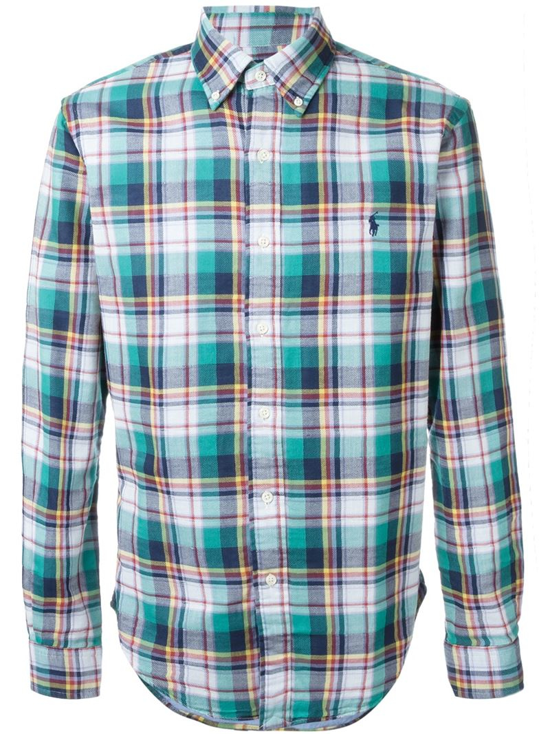 Pink Pony Plaid Shirt In Green For Men Save 21 Lyst