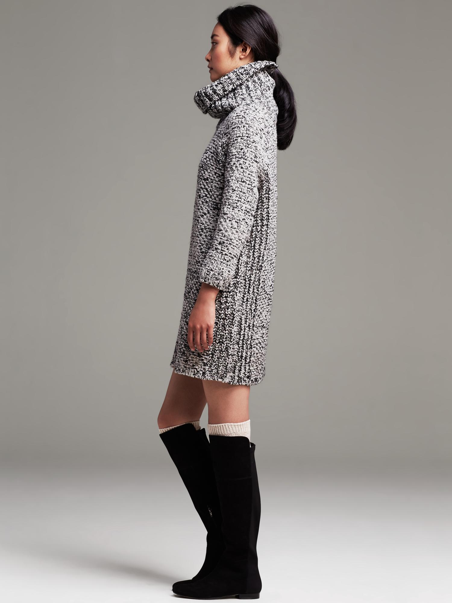 718a3df23c4 Banana Republic Heritage Marled Sweater Dress - Lyst