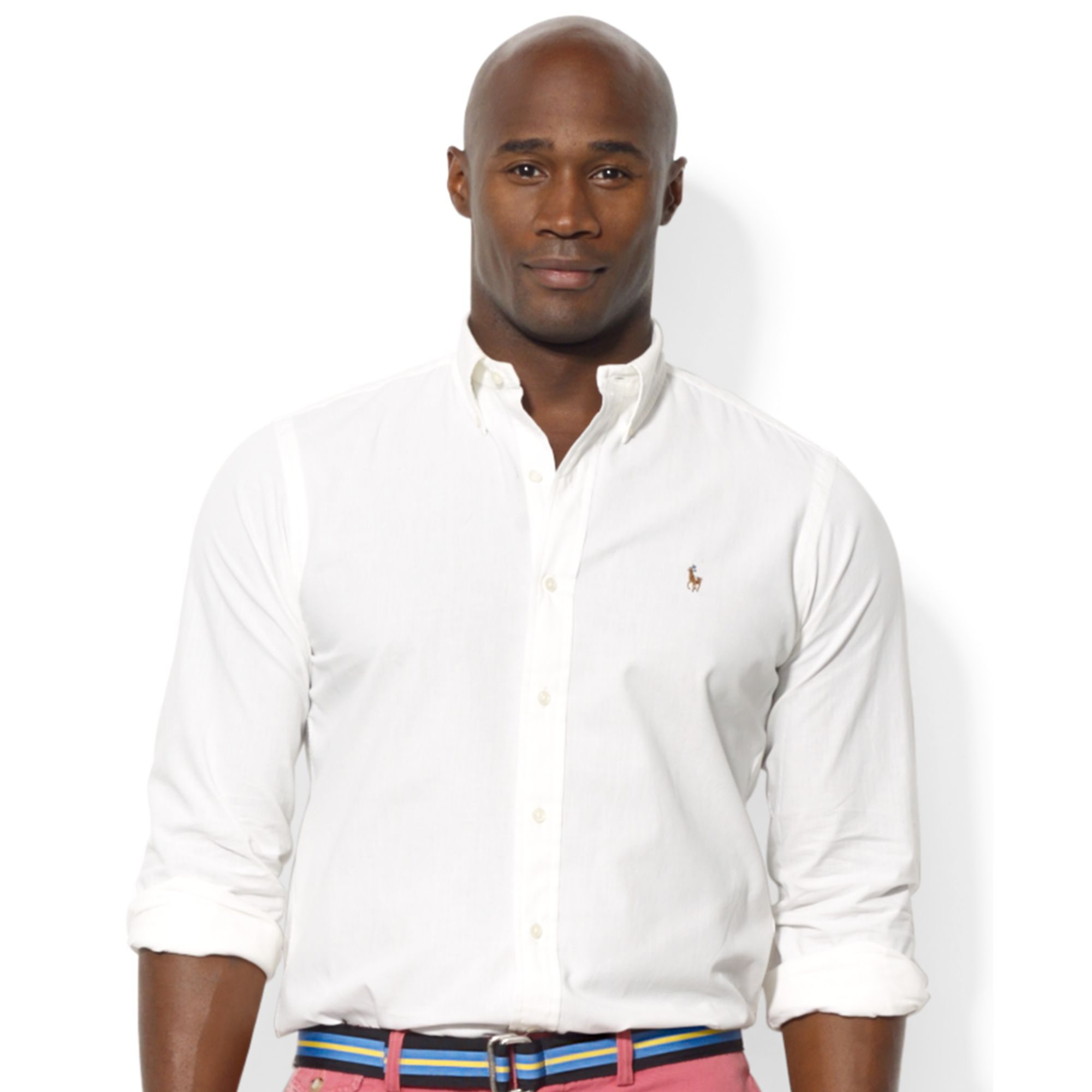 Ralph Lauren Polo Big And Tall Chambray Shirt In White For