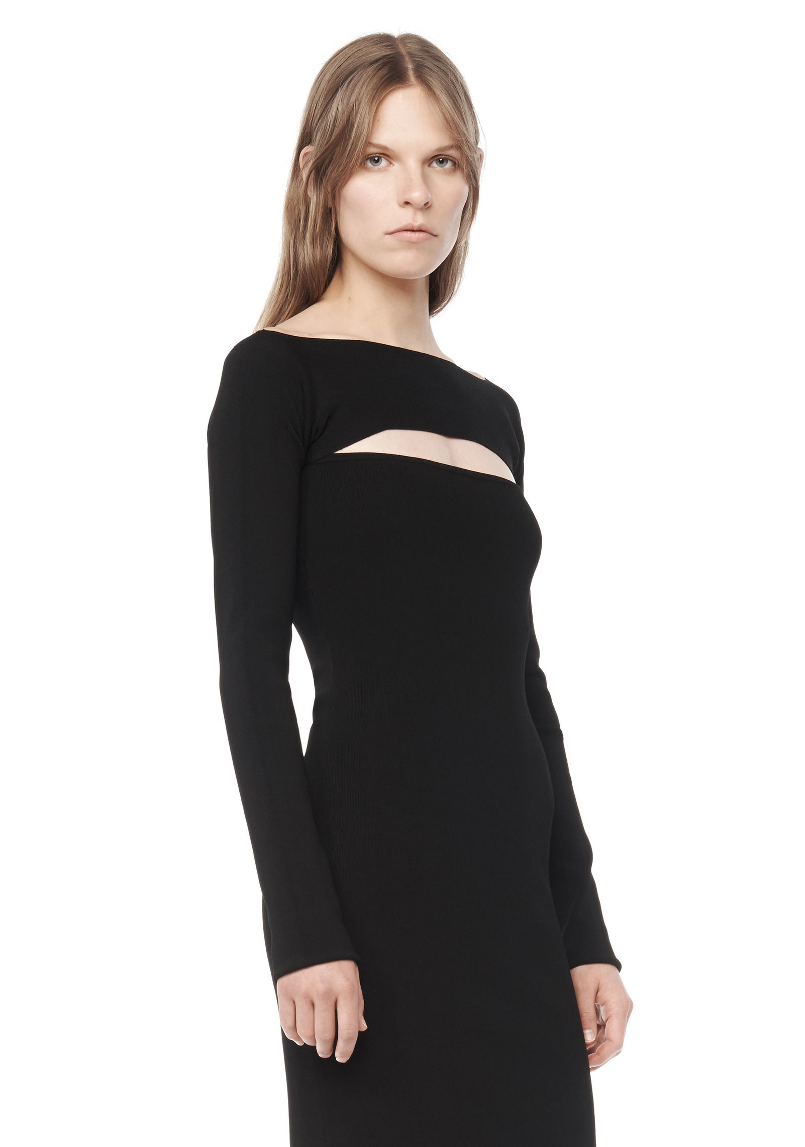 lyst t by alexander wang long sleeve bandeau dress in black. Black Bedroom Furniture Sets. Home Design Ideas