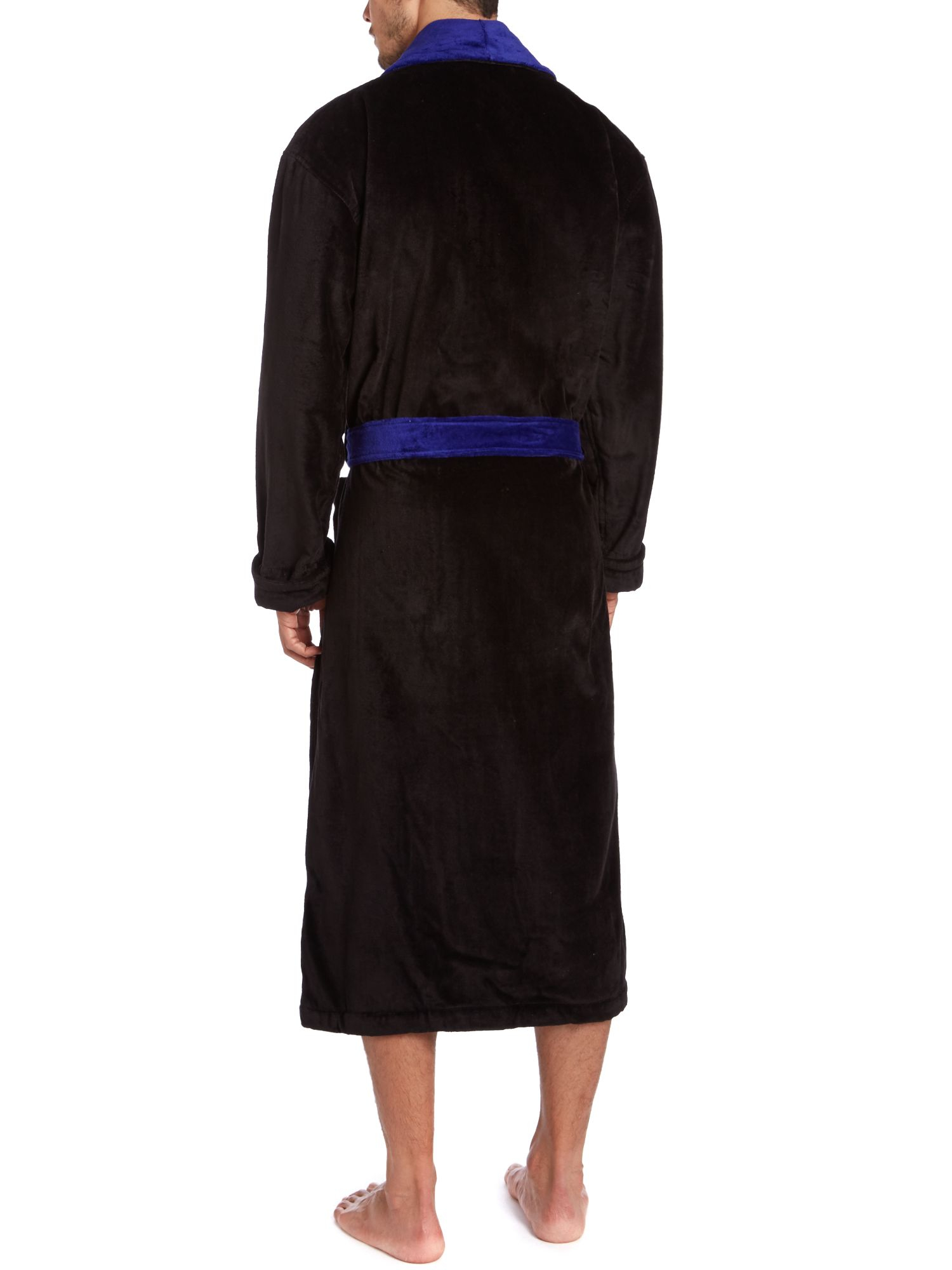 lyst polo ralph lauren cotton velour robe in black for men. Black Bedroom Furniture Sets. Home Design Ideas