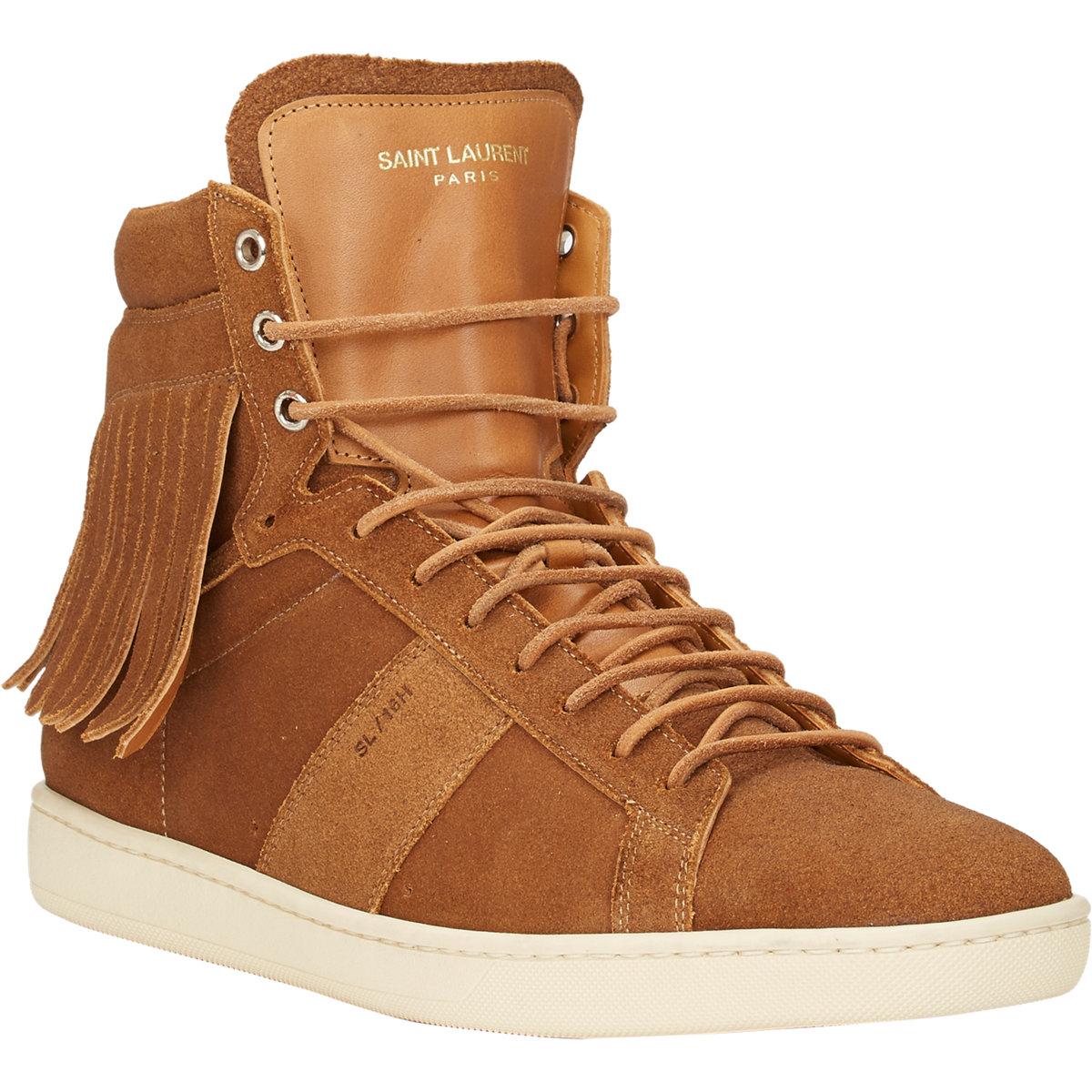 saint laurent fringe sl 16h court classic sneakers in brown for men tan lyst. Black Bedroom Furniture Sets. Home Design Ideas