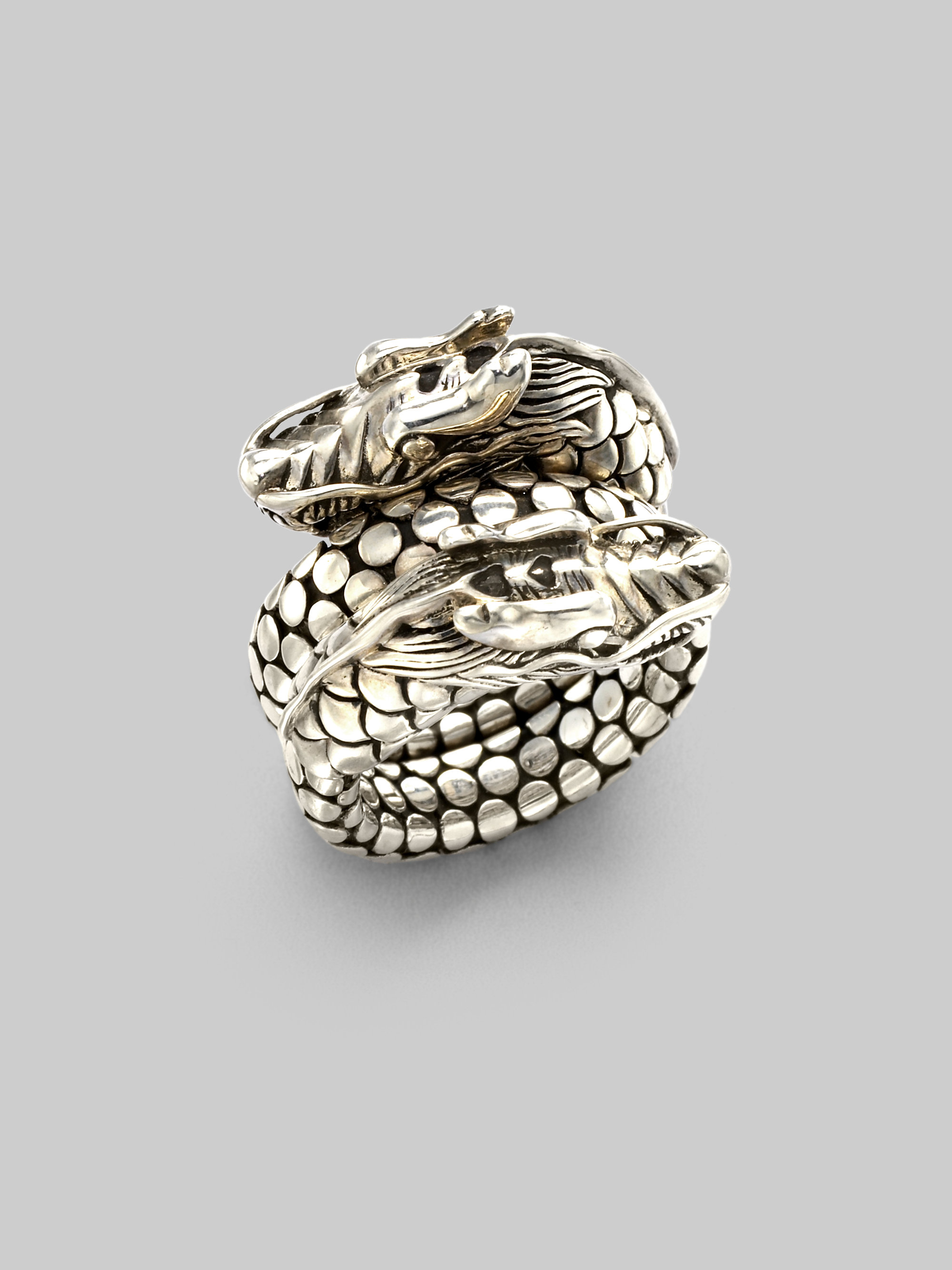 Lyst John Hardy Women S Naga Sterling Silver Dragon Dot