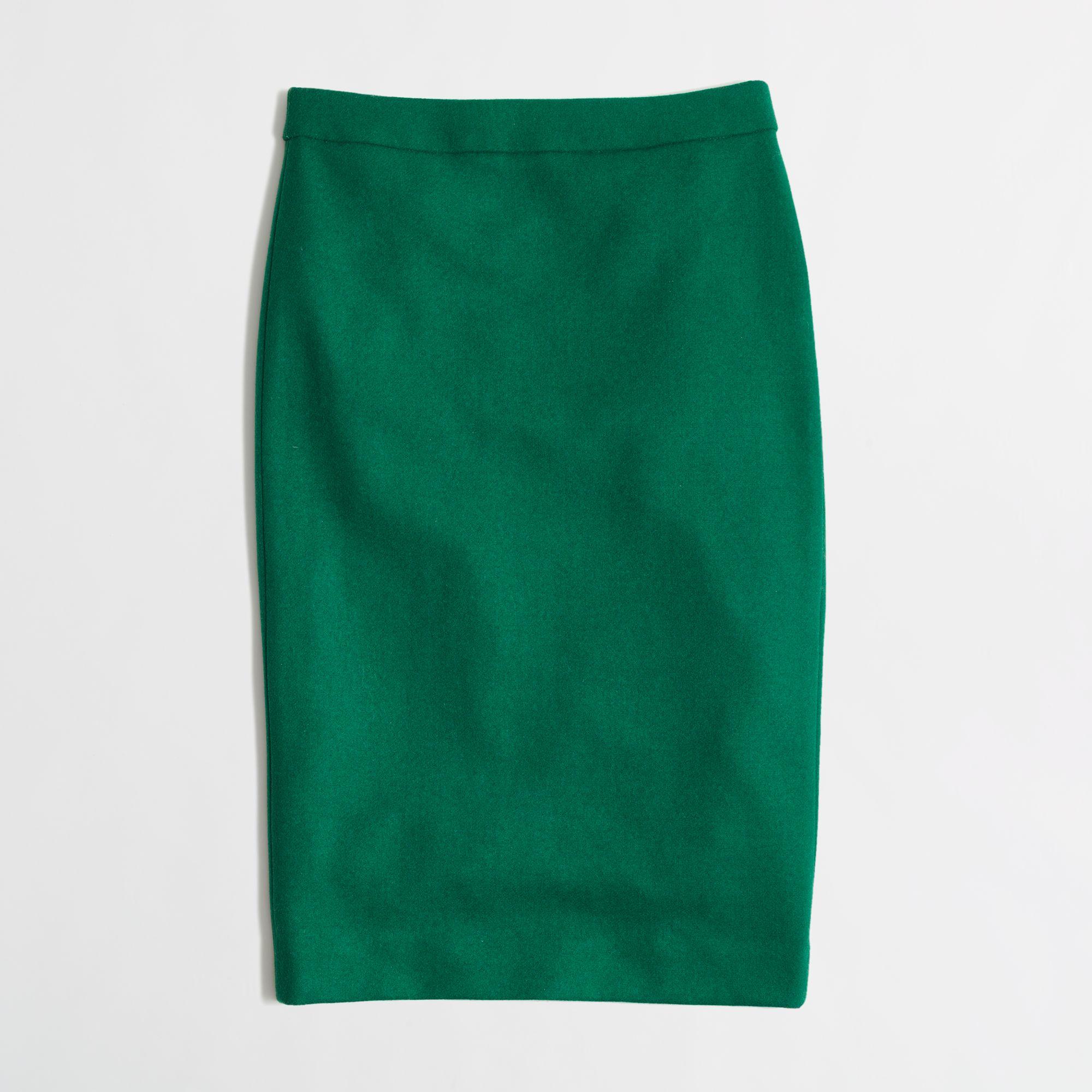 j crew factory pencil skirt in serge wool in
