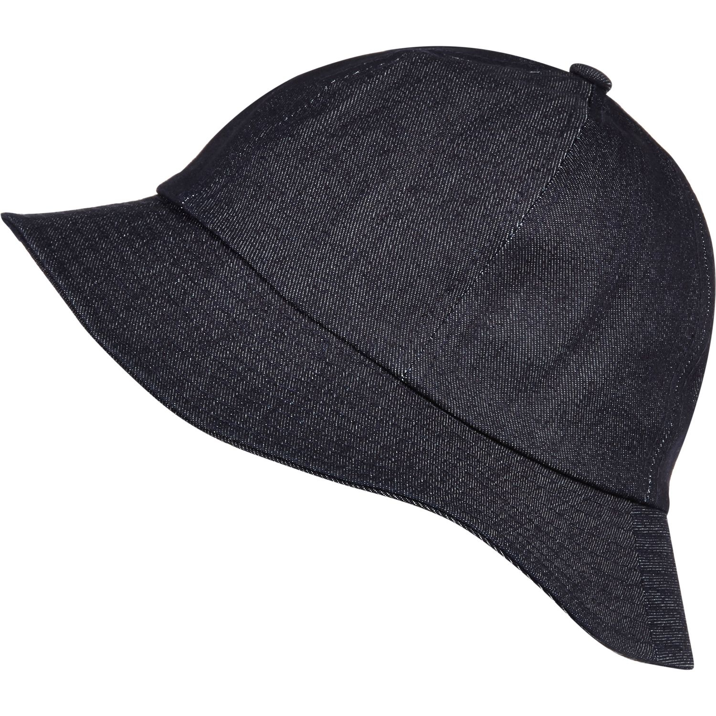 3c4812297 River Island Navy Blue Dark Denim Bucket Hat in Blue for Men - Lyst