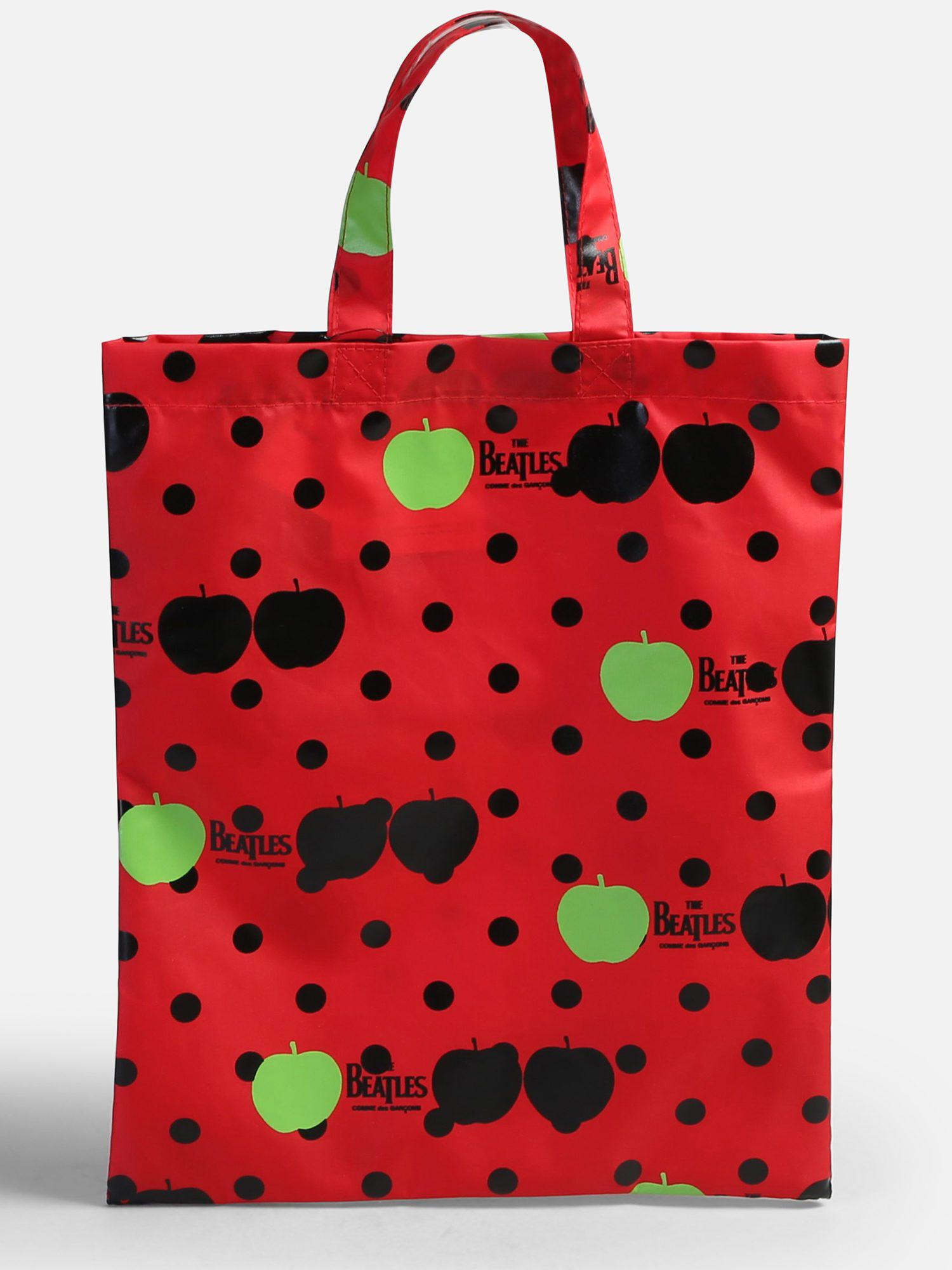 3ad11c6b649c COMME DES GARÇONS PLAY. Men s Red The Beatles X Comme Des Garçon Printed  Nylon Bag