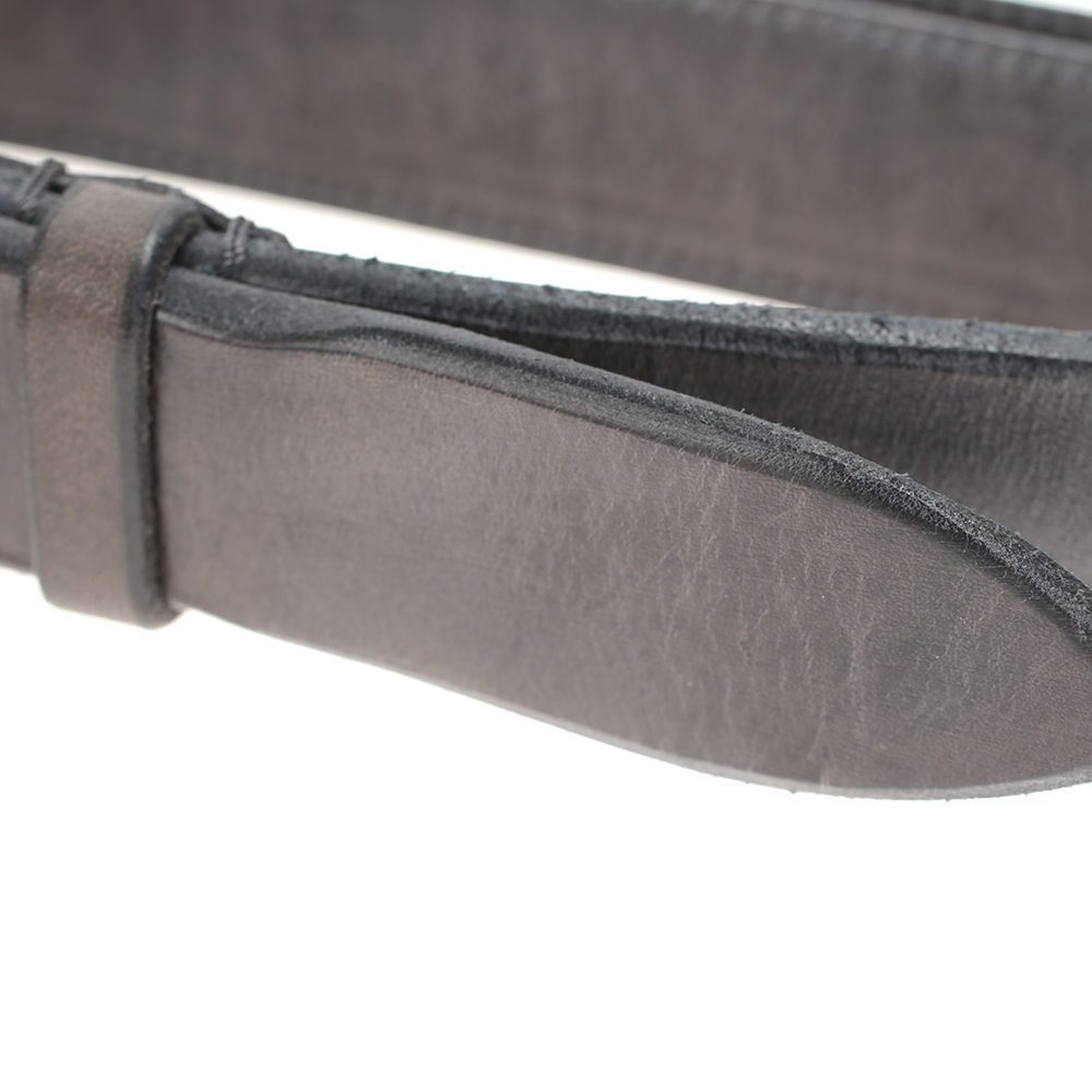 orciani grey leather belt in gray for lyst