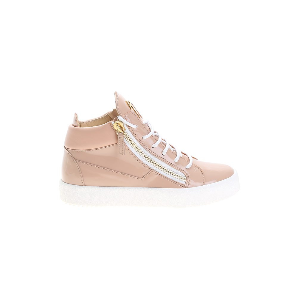 giuseppe zanotti pink patent leather sneakers in pink lyst