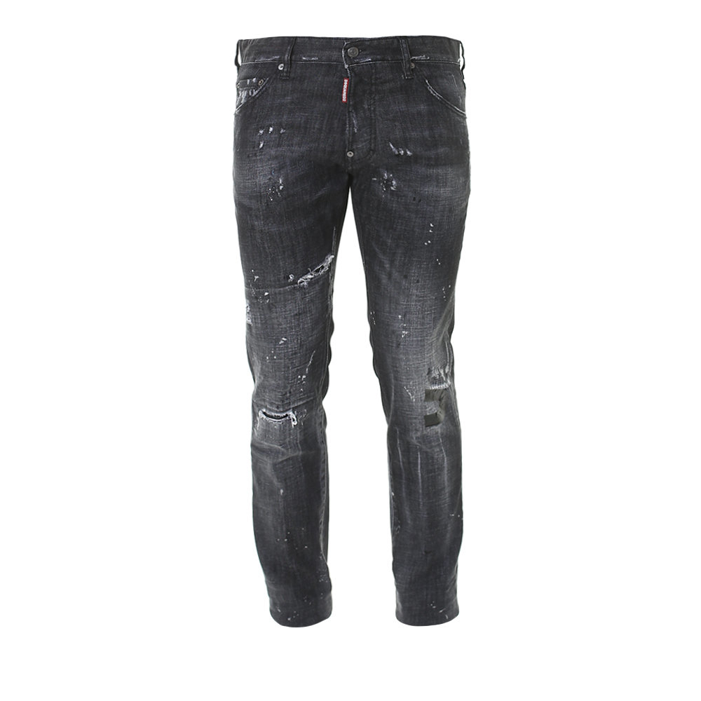 Dsquared² Black Stretch Denim Cool Guy Jeans in Black for ...