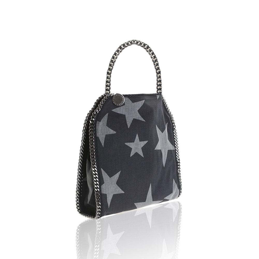 stella mccartney black small falabellla star bag in black lyst. Black Bedroom Furniture Sets. Home Design Ideas