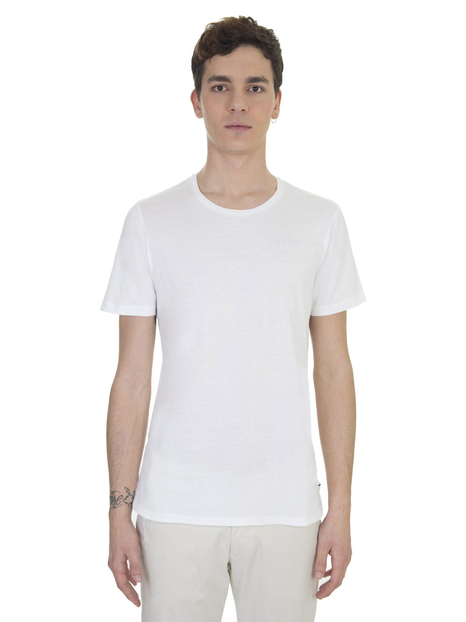 Lyst burberry white cotton stantford t shirt in white for T shirt burberry men