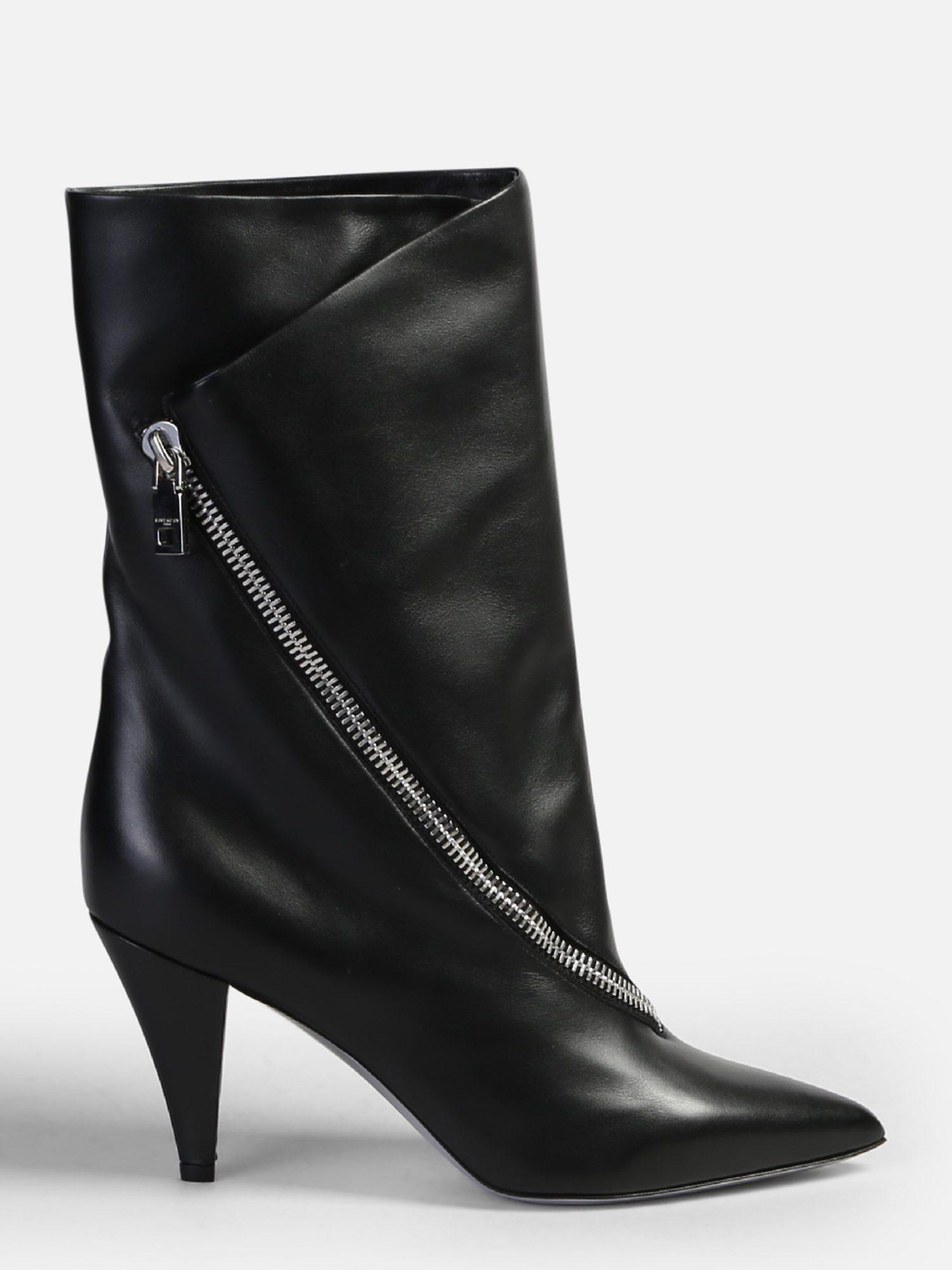 bd8fabbac5f0 Givenchy Zipped Leather Boots in Black - Lyst