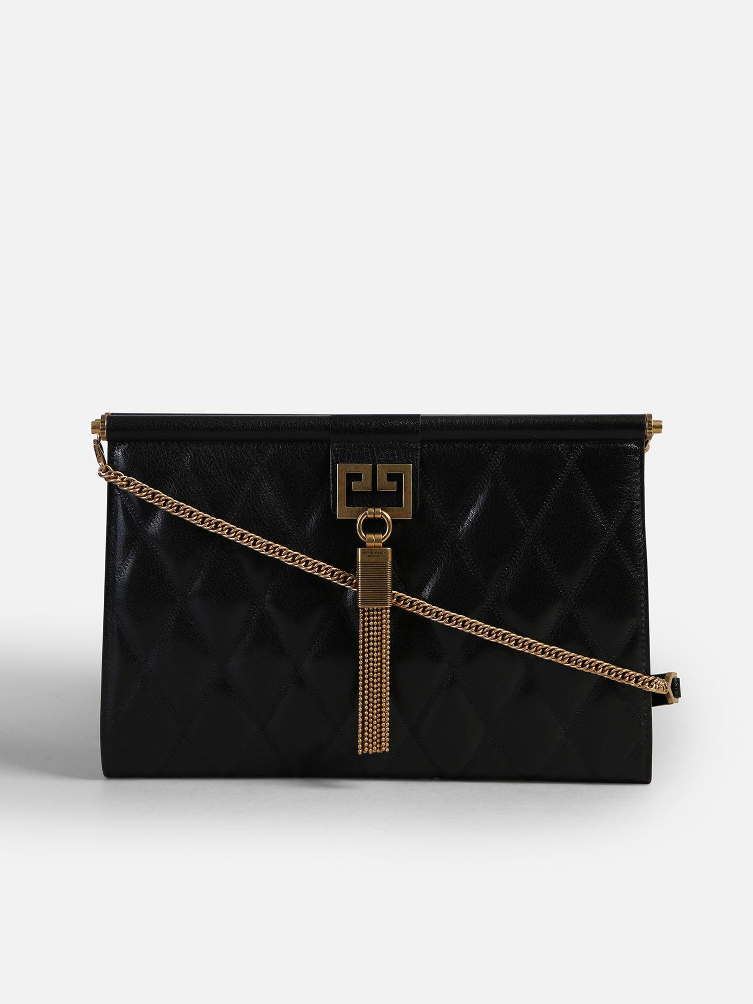 Lyst - Givenchy Medium Gem Quilted Leather Bag in Black 39fc4a99c7