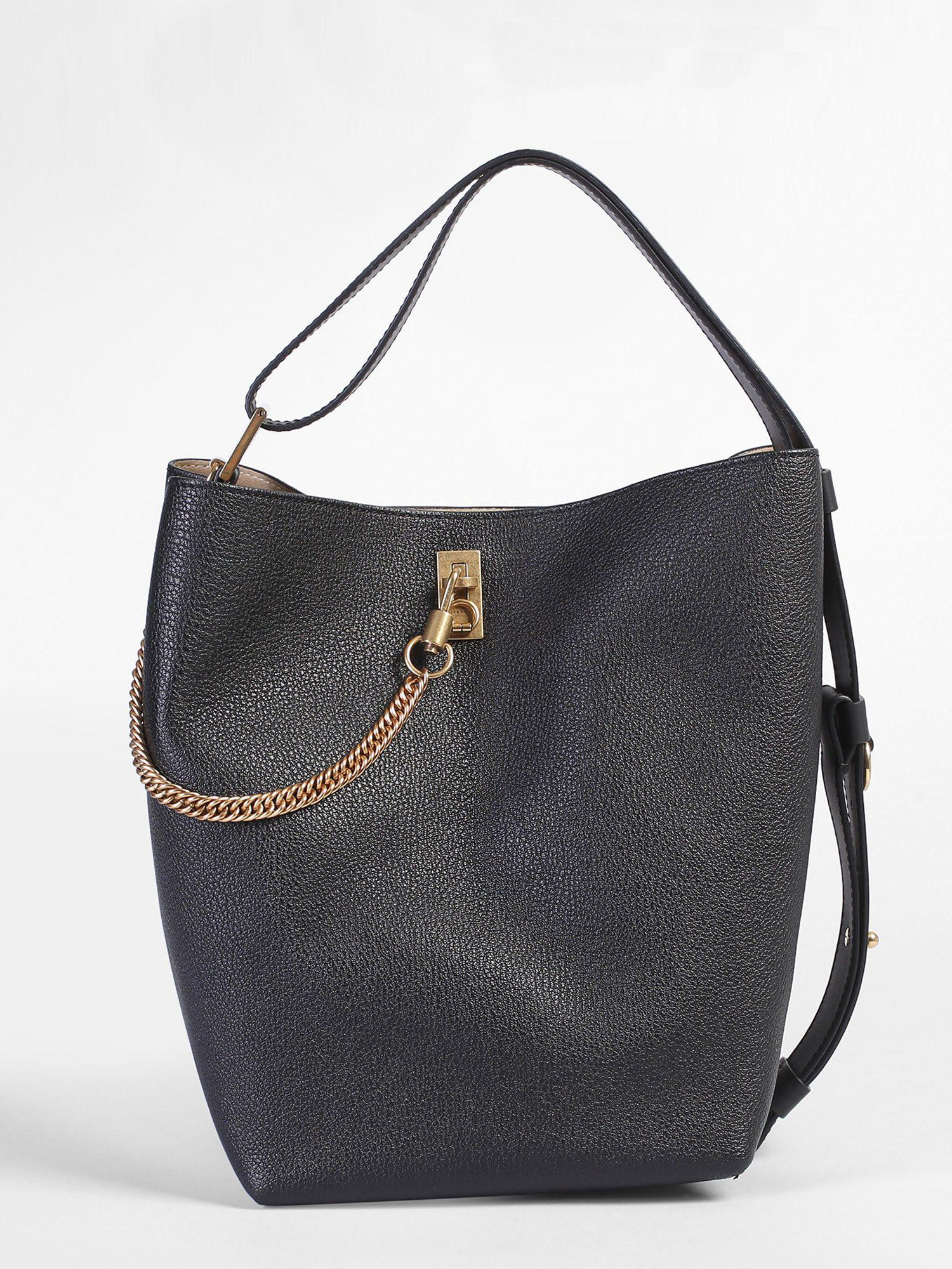 a001ff17b8 Givenchy Medium Gv Leather Bucket Bag in Black - Lyst