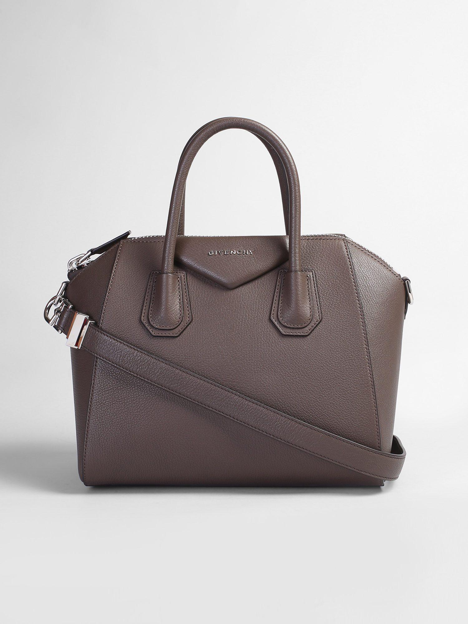 27abf1764e6b Givenchy Small Antigona Leather Bag in Brown - Lyst