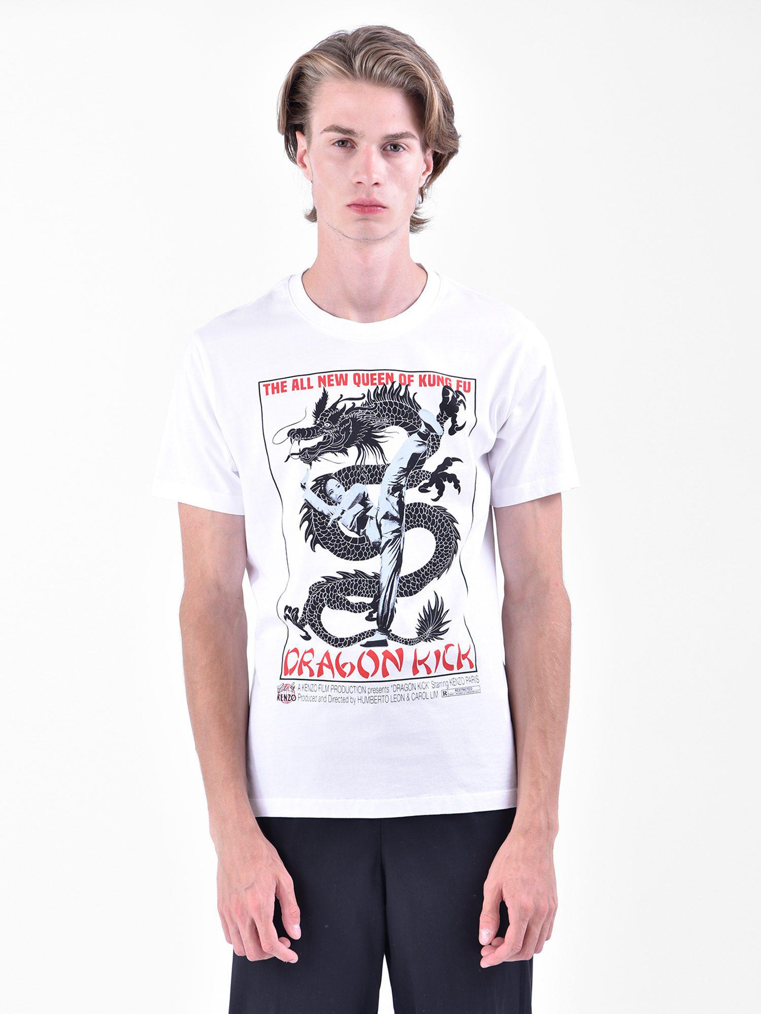 b5002d793 Lyst - Kenzo Printed Cotton T-shirt in White for Men