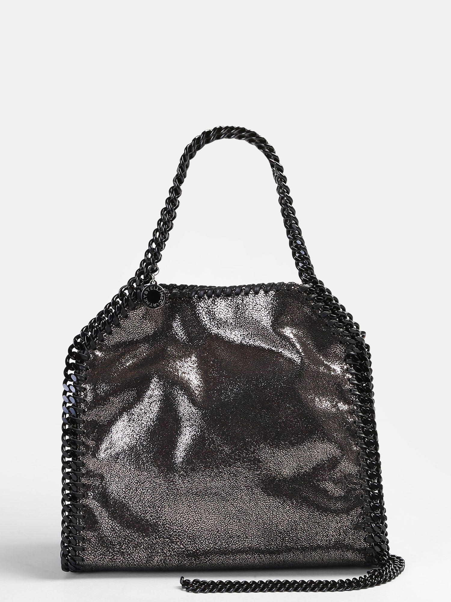 acb03c6aaafa Lyst - Stella Mccartney Mini Falabella Faux Leather Bag in Black