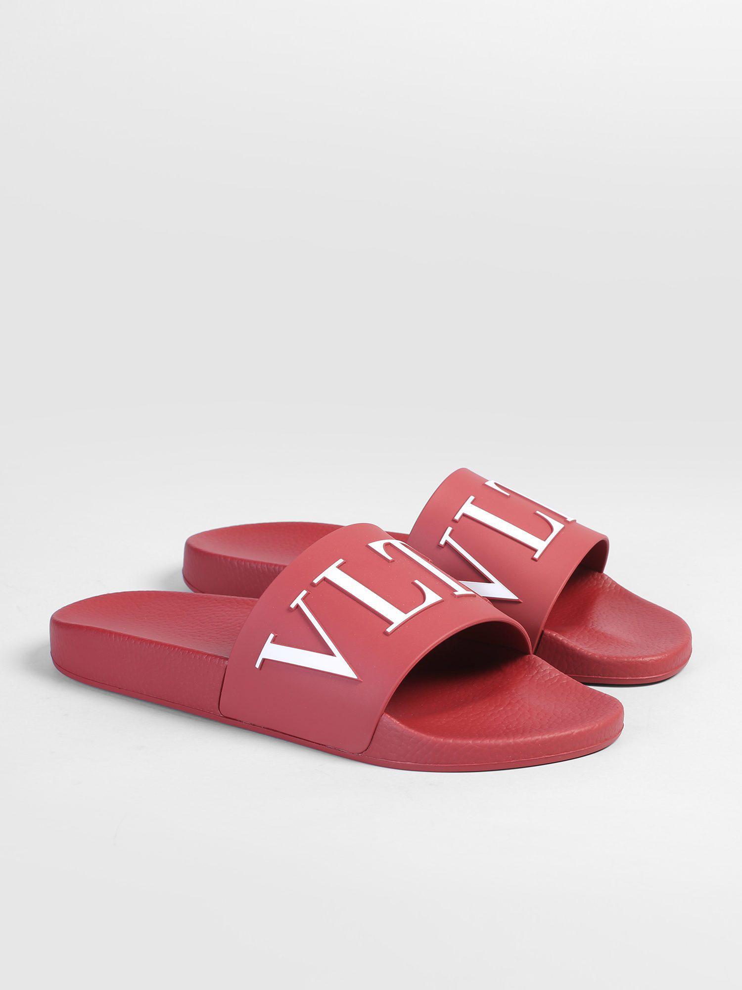 7744077aee68e2 Valentino - Multicolor Rubber Slide Sandals for Men - Lyst. View fullscreen