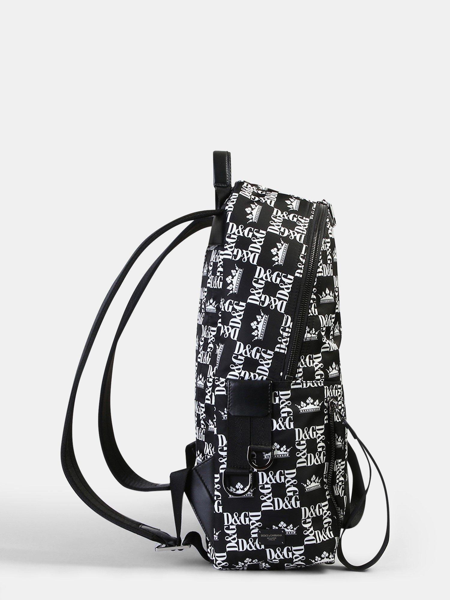 Dolce   Gabbana Logo Print Nylon Backpack in Black for Men - Lyst a73d546dd8cb4
